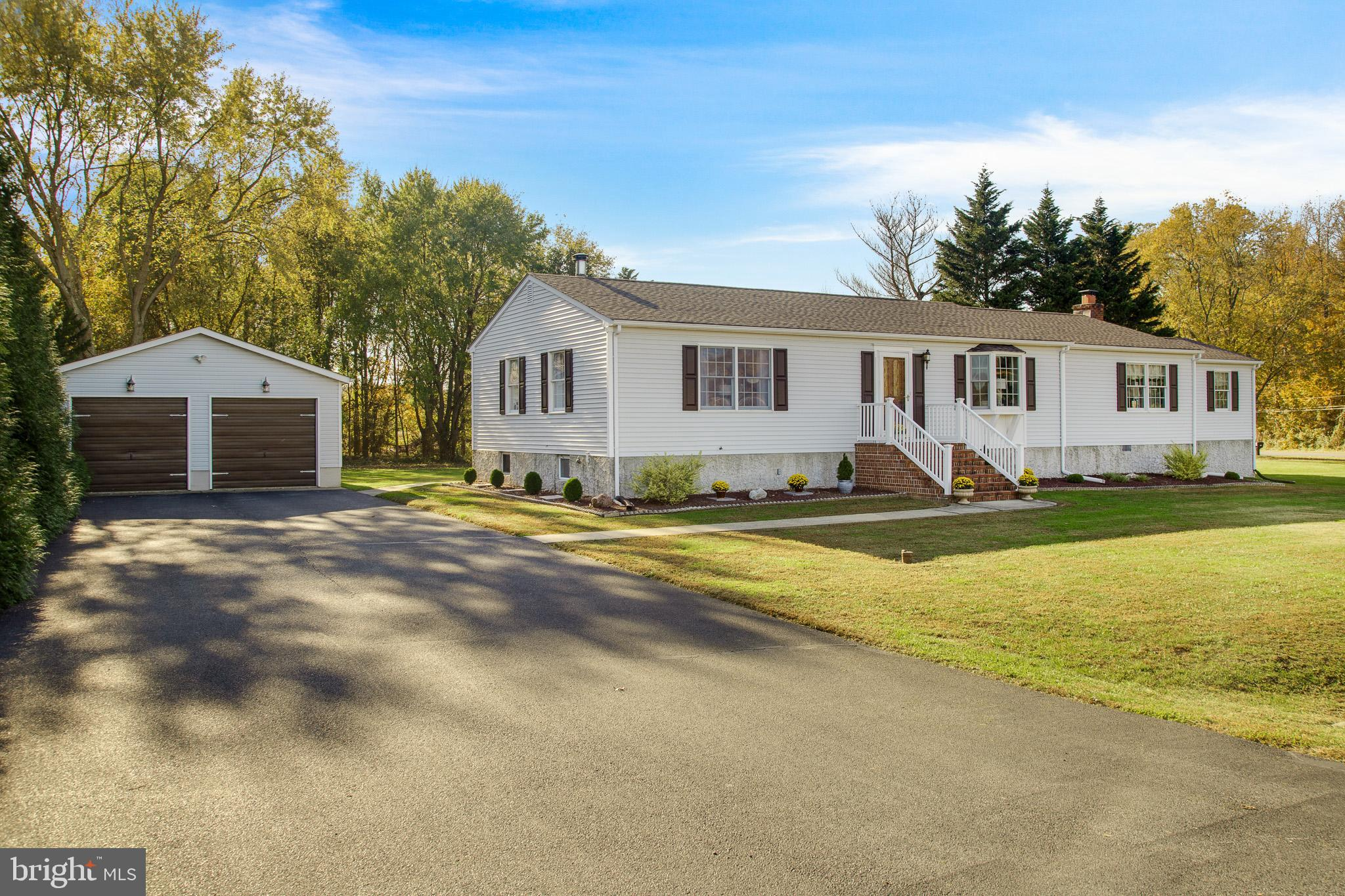 This Pristine Ranch is a must see if you are looking for a move-in ready home. You will like the amazing curb appeal and views of Country living. Located just outside of Middletown. This house is just minutes away from all major highways and local shopping areas. Entering the home you will see how meticulously kept it is. The Hardwood floors throughout are easy to clean and maintain. The bright natural light throughout the house provides energy as you tour the property. There are 4 bedrooms and 2 1/2 baths. This house is great for entertaining Family and Friends in the Large Family Room. Open up the French doors and spill the party out to the screened in porch area. There is a great breeze that flows through the house when that is opened up. The Super Large Main bedroom is fabulous, featuring a large bathroom with a walk in shower. This room was once used (and can be used) as an in Law Suite, for aging parents, visitors suite and was rented out to college students at on time. The basement area is clean as a whistle and provides plenty of room for storage, and the Bilco doors provide easy access to move things in and out.  Step outside and enjoy the large yard to relax and/or entertain as well. Finally a 31x24 Detached Garage which is great for Car enthusiast or a place for a workshop. Many updates were done, such as New Roofs (2014), New Furnace (2018), New Water Heater (2018), New Central Air (2019) and Class H done (2020). This well-built house is waiting for its new owners who will appreciate what this house has to offer and there is much more to see when you visit this lovely home.
