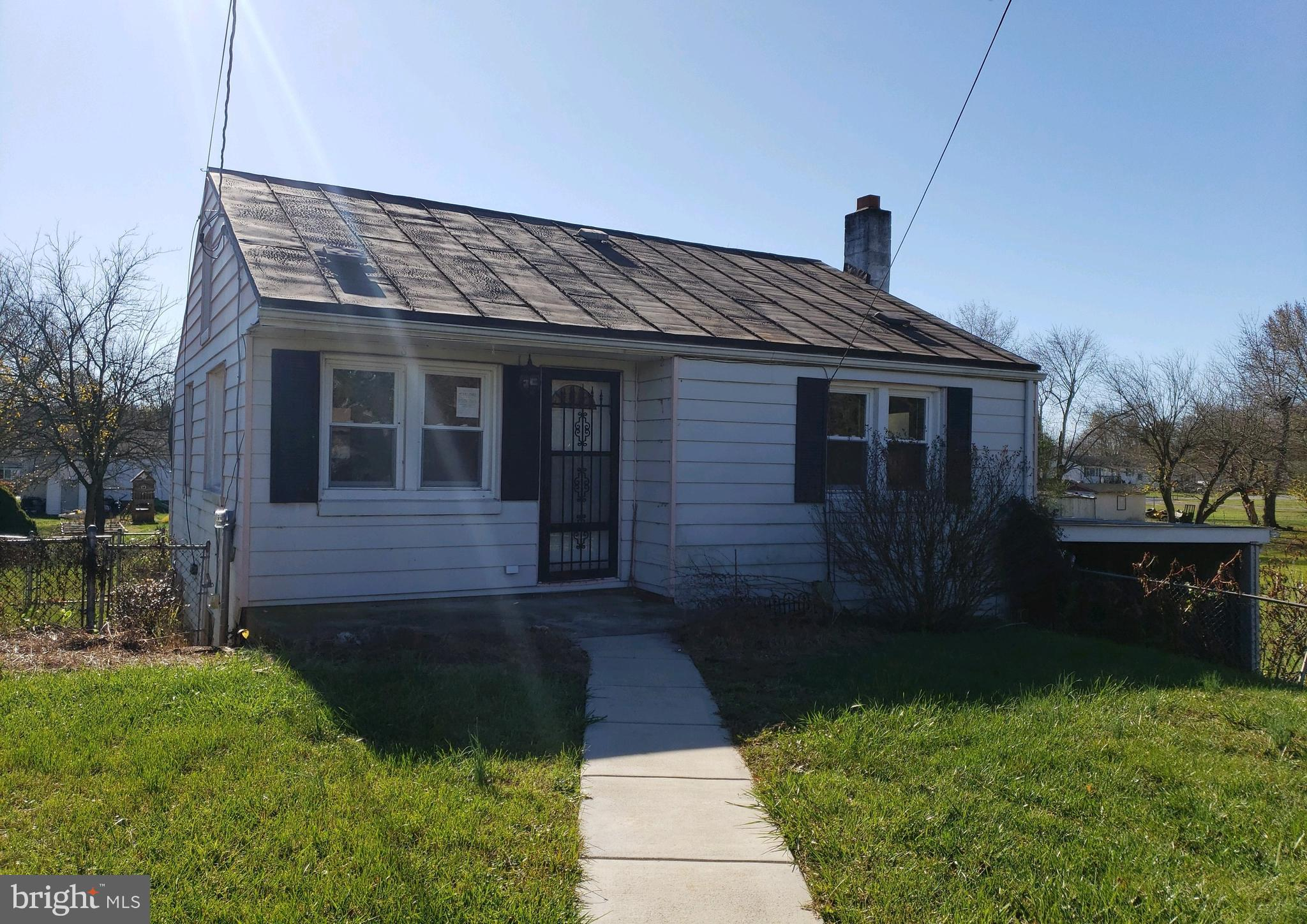 2 Bedroom, 1 Bathroom Rancher located in Ranson, kitchen with space for table, living room, basement with extra room, attic for additional storage, larger covered front porch, fenced in yard and a storage shed