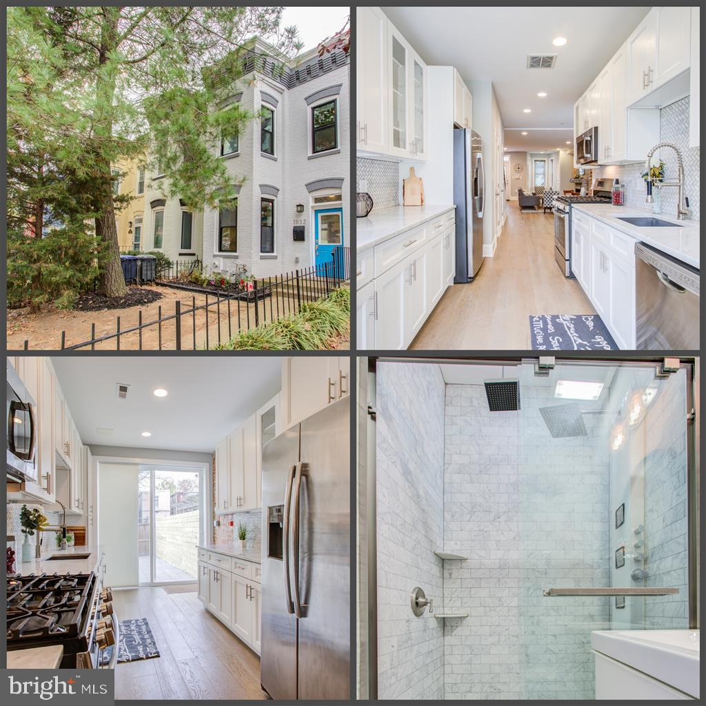 Stunning renovation of this spacious DC Colonial Row House. No expense spared. Hardwood floors. Recessed lighting throughout. Beautiful, open layout. High end granite, upgraded kitchen cabinets, stainless steel appliances. High end finishes used throughout. Move-in ready. Alarm onsite