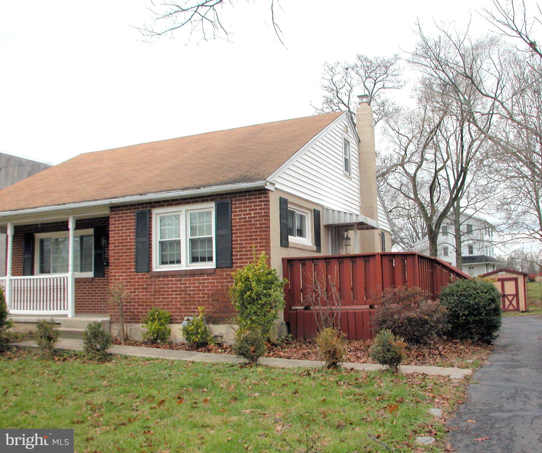 Updated Cape with 3 bedrooms, 1.5 baths and a remodeled kitchen with pantry, newer counter tops and a breakfast  bar with stools.  Spacious dining room open to kitchen.  Carpeting in living room and first floor bedroom, hardwood floors in kitchen and throughout the house.  Private back yard with nice sized driveway including a turn around space and shed for gardening tools.  Full basement and much more.