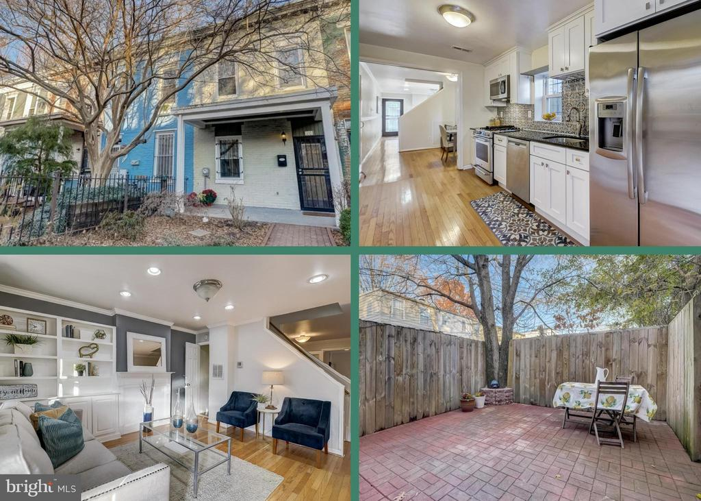 Open House Sunday 12/6 from 1-3pm.   This beautiful H St rowhome is exactly what you've been waiting for!  It offers 2 bedrooms, 1.5 baths, an incredible private yard, and tons of upgrades.  This home has hardwood floors throughout, a large walk-in closet in the master bedroom, updated windows, hvac and hot water heater.   You'll love cooking  on the 5 burner gas stove and dining al fresco on the beautiful rear patio.    From the front porch you can see all of the excitement of H St and from the backyard you can enjoy a private oasis.  Easy walk to endless restaurants, Whole Foods,  Trader Joes, and more!