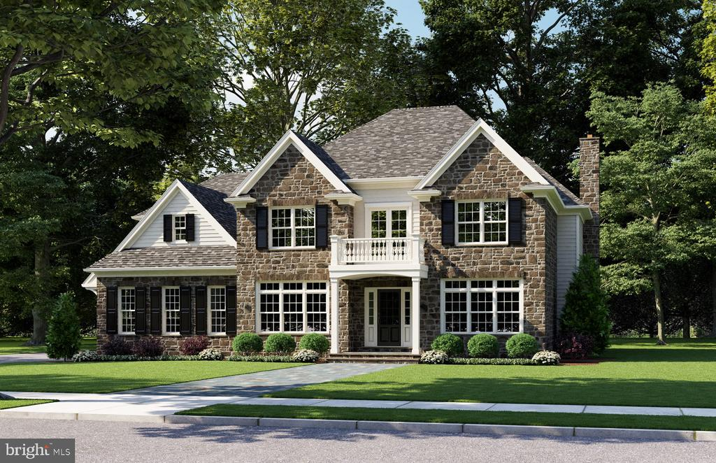 Beautiful new construction home on quiet drive in Villanova is coming soon. This brand new French Farmhouse style home built by John Rayer and Son, will feature 4 bedrooms, 4.1 bathrooms, and has 4,076 square feet on a flat .68 acre lot.  From the center hall entry, you will find the formal living room and dining room.  Entertaining is made easy in the chef's kitchen with large island, walk in pantry and breakfast area that opens to inviting family room with fireplace and half bath. A three-car garage at the rear of the house flows directly into a large mudroom. The second floor features fantastic main bedroom suite with office/sitting nook, dressing room and luxurious bathroom with double vanity, soaking tub and walk in shower.  Three additional spacious bedrooms all with walk in closets and ensuite baths as well as the laundry room, completes the second floor. There is an option to add more square footage by finishing the large, high ceiling basement. Room for a pool!  Award winning Lower Merion Schools.  Close to 476 and 76.  Don't miss this opportunity to make this home your own today! Taxes TBD, Late Spring/Early summer 2021 delivery.