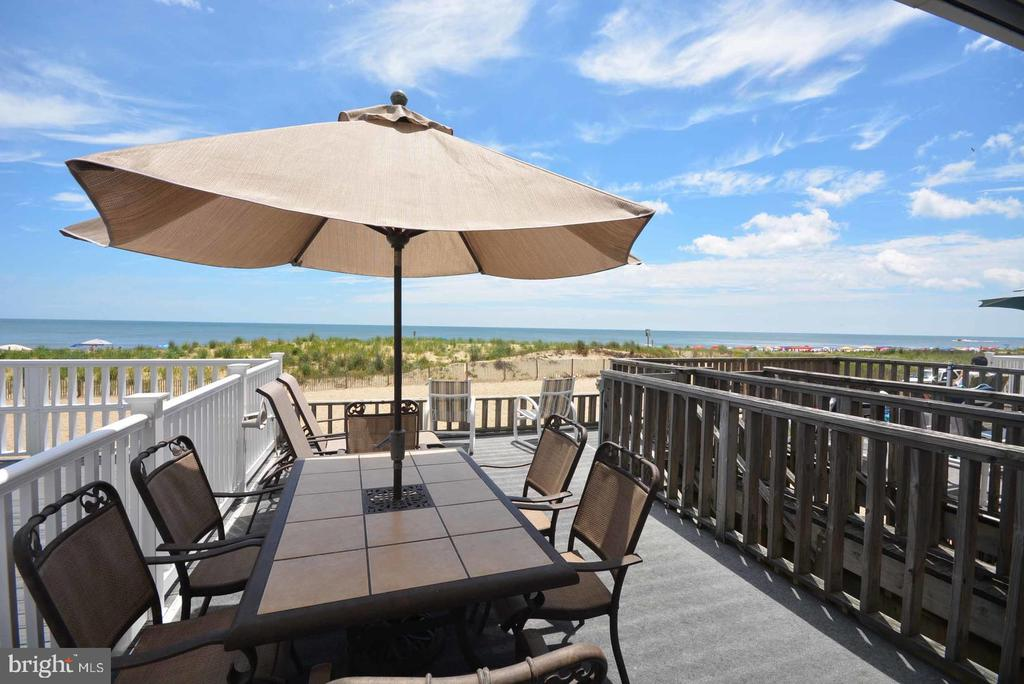 Direct Oceanfront TH with walk off deck to beach and ocean. Views galore, large sundeck and multiple balconies. perfect for family with children  with easy access to beach. No HOA fee no Condo fee and no Ground rent in fee sale . This townhouses was rebuilt from the ground up in the 80's. Property has been equipped with fire sprinkler system. Property winterized don't use toilets.