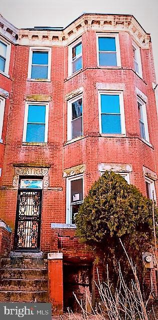 "Explore the endless opportunities and possibilities to rehab and renovate this 5 bedroom 21/2 bath brick Victorian in the prime location of Ledroit Park/Bloomingdale. Character still found in vestibule, built-in fireplace mantels, stained glass cabinets, floored mirror and sliding wood door. Space galore enhance high ceilings, formal living room, separate dining room, two enclosed porches and full basement with front and rear entrances.  Cluster of hospitals nearby - Children's, Washington Hospital Center, VA.                                        Being Sold ""As-Is"".  Needs Vision and Major Work.   Please follow COVID-19 protocols when viewing...Must wear face mask, use hand sanitizer or wear gloves and socially distance."