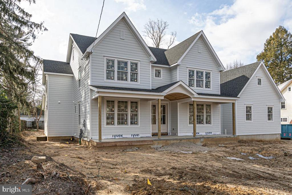 New Construction, two and half story, Center Hall Colonial Style Home (approximately 7,000 Sq Ft of finished living space) in Haddonfield, New Jersey. The new dwelling will sit on a 110' x 159' lot, consisting of 6 bedrooms, 6 full baths, plus 2 (half) bath. The new house includes master suite with full bath, open gourmet kitchen with butler's pantry, family room, finished basement and optional finished walk up third floor with bedroom and 1 full bath. Attached 3 Car garage will be built with carriage style doors. Project estimated to be complete March 2021.  Property has not been fully assessed yet.  Taxes are to be determined.  These taxes are estimated.