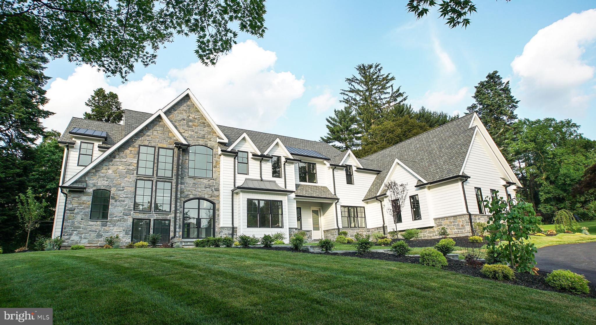 After multiple offers and 2 months under contract, the buyer's financing fell through and this beauty is back on the market.  Best Of the Main Line - Radnor Township New Construction.   Masterfully built on a gorgeous one acre lot with 9300 square feet of move-in ready finished space.  This home embodies luxury at every turn.  Massive foyer featuring a custom Iron Door, Quarter Sewn White Oak flooring  with a herringbone pattern, 10  ft ceilings, and a grand staircase with an impressive wall of windows. Sprawling open floor plan.  Enormous Chef's Kitchen with Thermador appliances, Custom Craft Maid Kitchen Cabinets and impeccable Cambria Quartz countertops with Artistic tile backsplash.   Built for entertaining, the adjacent butler's kitchen features it's own double oven and dishwasher with effortless flow into the dining room.  All bedroom have en suite baths and the Master features an attached Nursery/Office /Closet that can be reverted to the 5th bedroom very easily.  The fully finished basement adds 2500 square feet of living space and features a Large gym w/ full bath and steam shower as well as a separate theatre room   Oversized 3 car garage equipped  to handle lifts for the  car enthusiast.  The backyard has a gorgeous covered slate patio and is engineered for a future pool and pool house, as well as additional hardscaping.  Located on a sought after street and close to all of the amazing dining and shopping the Main Line has to offer!  Now is your chance to own this magnificent home.