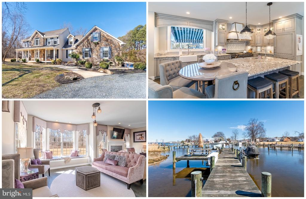 Truly a one of a kind breathtaking property on over 4 acres! This 3,176 square foot WATERFRONT home was recently remodeled and built for entertainment.  The updated gourmet kitchen contains Viking appliances and opens to the main level of the home. The exterior has extensive hardscaping around a heated saltwater pool, outdoor kitchen, hot tub, entertainment area with TV, gazebo, play-set, and a separate 1 car garage as well as another 2,000 sq ft GARAGE! This garage is any car enthusiasts dream come true! With oversized doors this space can hold up to 8 cars, has two car lifts, a  full bathroom, washer/dryer, fantastic seating area, and heating and cooling system.   The waterfront lot which also comes with the sale  (Tax ID number 020388722585900) is located across the street and has its own 80ft+ dock, picnic area,  2 boat lifts and jet-ski lift. Due to the fact the water-frontage is across the street the house does not have a water view.