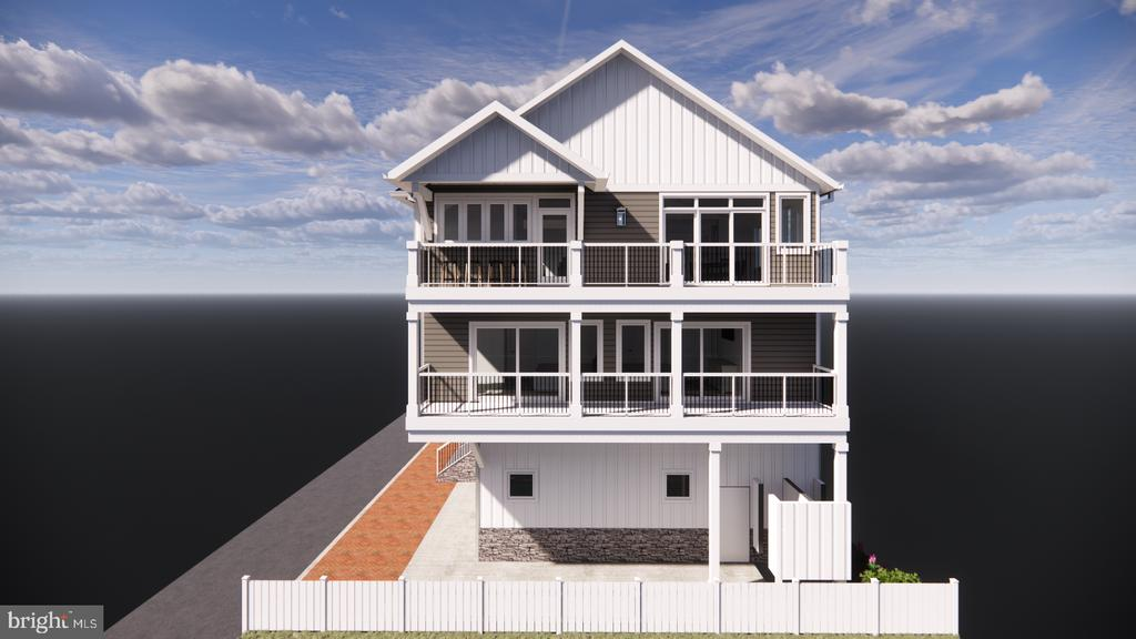 New Construction Ocean Block Custom Built Single Family Home with Ocean & Bay Views.  Architectural and engineering design by Becker Morgan, these homes are 5 bedrooms, 4.5 baths that boasts approximately 3,300 square feet of indoor living space.  Private Upgraded Elevator, 2 Car Garage,  Entry Level Storage Area, Two Outdoor Showers, 3 Master Suites, High End Architectural Windows and Doors (DP Rating of 80), Quartz Countertops throughout the home, Huge Open Living Room Floor-plan, Large Balconies, Two Washer/Dryer Rooms, Custom Tile Floors and Bathrooms. Sprinkler System, Custom Built-in Bunk Beds. One Of A Kind Pass Through NanaWall Window  Wet Bar Perfect for entertaining.