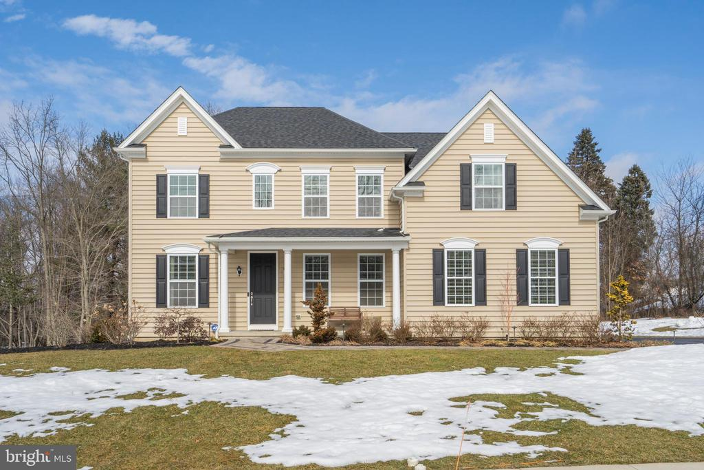 Showings start 3/5 at noon. Welcome home to this wonderful home that will check off all of the boxes on your wishlist.  Saranac is a small community of homes on generous lots in the Downingtown school district. This is a wonderful floor plan for everyday living and entertaining. Enter into the welcoming center hall and two-story foyer, a cozy living room, and a large dining room. The dramatic family room includes a gas fireplace and soaring wall of windows. The sellers chose an upgraded 2-foot extension across the back in this room, the kitchen, and the second floor, extending both the master bath and bedroom.. The gourmet Kitchen has updated and upgraded backsplash, granite counters, upgraded soft close cabinetry, upgraded disposal, gas cooking under/above cabinet lighting, counter seating, and all stainless appliances. There is even a generous breakfast area and a pantry closet with custom wood shelving. The morning room was also an option these sellers chose, with sliding glass doors to a truly upgraded 2 tired Cambridge hardscaped patio that includes a built-in grill, gas fire pit, and bar with outdoor outlets. You will enjoy being home this summer! Additional features of the main level are the study with mounted tv (included!) a laundry room with LG washer and dryer (included!) and a powder room. The second level has a very large main bedroom suite with a custom closet, and an en suite bath with double sinks, a soaking tub, and a large shower.  The TV in this room is mounted and also included. There are 3 additional bedrooms, all very good sized, all with ceiling fans, one with a walk-in closet.  The basement has a large finished area, wall-mounted TV included, andand sliders to the rear yard. The unfinished storage area is large and there is roughed-in plumbing for a future powder room. The dual zoned HVAC system comes with 2 Nest thermostats. The 2 car garage has 2 overhead Saferack storage and bike mounts/racks are included! There is a custom Cambridge front