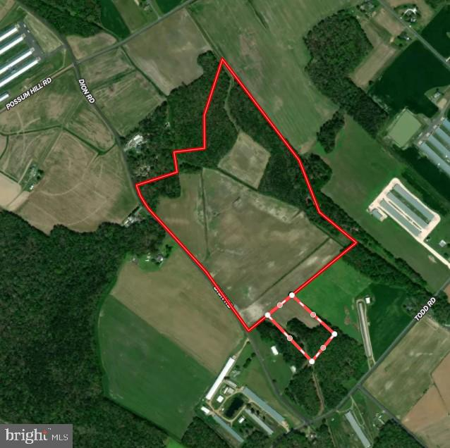 71.05+-  acre farm with 47.38+- acres tillable and 23.67+- acres wooded. Soils are favorable for a perc for a homesite.  (Adjoining 5.6+- acres outlined in red and white dashed border on aerial is available and being sold separately.)