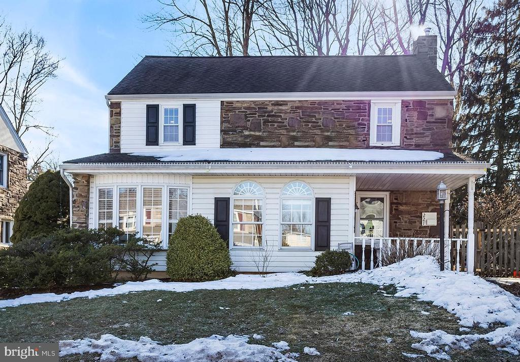 Welcome to this beautifully maintained 3 BD, 2 BA classic stone colonial in the highly coveted Coopertown neighborhood.  The front covered patio opens into a generously sized foyer with marble floors and a builtin bench carefully thought out for all your storage needs.  The first floor offers a light filled living room that opens up nicely into the dining room with a charming chair rail, both rooms featuring original hardwood floors, crown molding and newly installed recessed lighting.  The main floor also features a large additional bonus room that is currently used as a home office but could also double as space for guests.  The updated kitchen features new hardwood floors, granite countertops, a neutral tile backsplash, stainless steel gas range as well as a new stainless steel dishwasher.  The kitchen opens up perfectly to a great fully fenced outdoor space with children's playset, a shed and a back patio with a new pergola.  Upstairs are three generously sized bedrooms all with original hardwood floors and recessed lighting and a hall bath with timeless black and white tiling. The primary bedroom has plenty of storage space and access to the walk up attic.  The washer and dryer are currently on the bedroom level but could be moved to the existing basement hookups depending on your needs. The finished basement of the home offers a great versatile space with a full bathroom.  This home is walkable to Coopertown Elementary School and part of an optional neighborhood association that plans annual events like HarvestFest and Winter luminary nights. The association slogan is Coopertown is Where Neighbors Help Neighbors and it is truly one of the best places to live in Haverford Twp!
