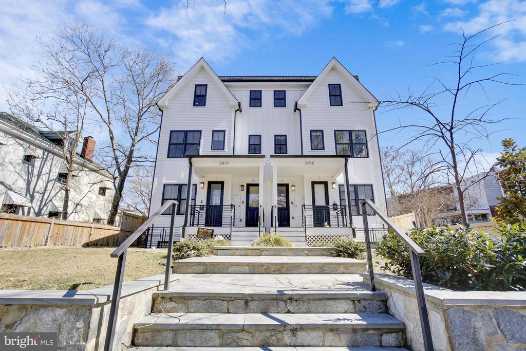 RARELY AVAILABLE Upper unit (all above grade) with an amazing Southern view in Petworth community! This is truly the unit you've been waiting for! 3 BR, 2.5BA gorgeously decorated, 1,968 sq ft townhome with two separate entrances convenient to all that DC has to offer!    This beautiful home invites you warmly with architectural charm and details throughout. Rich hardwoods, large windows with custom cordless shades, neutron dimmer switches throughout and generously sized rooms are just a few of the features that define this wonderful home. A floor plan designed for entertaining and traditional living.  Upon entering buyers are taken by the elegance of this home with soaring ceilings and amazing light filled space.  The dining room, which is perfect for intimate gatherings or grand parties, chef's kitchen with large island and inviting living room provide generous space for comfortable living.  Spacious closets, beautiful Owner's Suite plus additional,  generously sized second and third bedroom provide plenty of overflow space for this very special unit. One reserved off street parking space and lovely private balcony help bring the outside in.  The gorgeously manicured private yard adds to the beautiful setting.  The elegance, light filled space and convenience of this pet friendly, self managed two unit building on a one way street will wow you.  Call for details - Open Houses Sat and Sun March 13th and 14th!   CLOSE TO THE METRO!