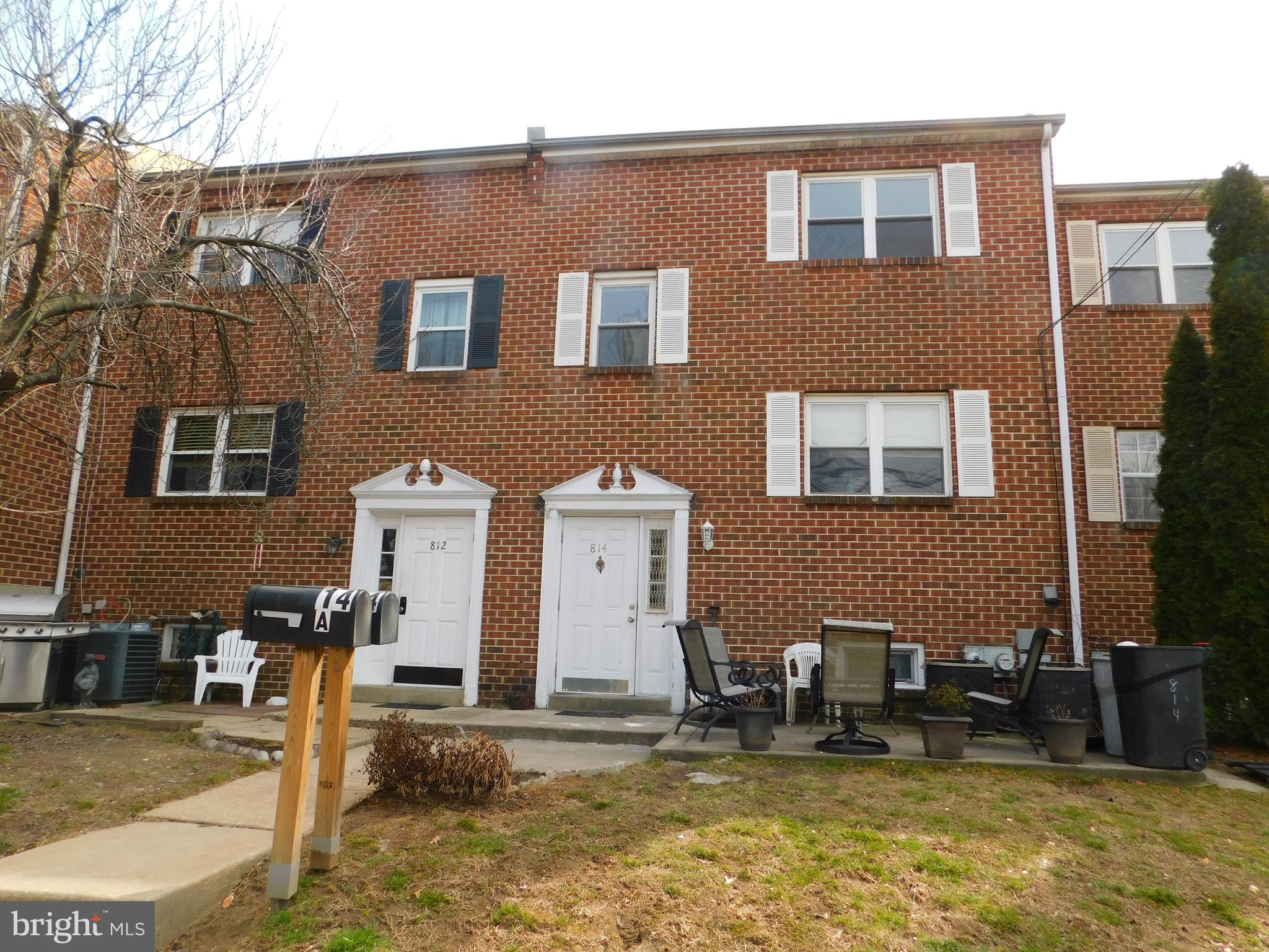 Terrific Duplex  in Upper Darby School District.   Both units  have a large living room, dining area, kitchen, bath and two bedrooms.  There is a shared basement with laundry hook ups for each unit. Attached two car garage, one for each tenant, additional parking off street behind garages.  Convenient location, walk to train and shopping.