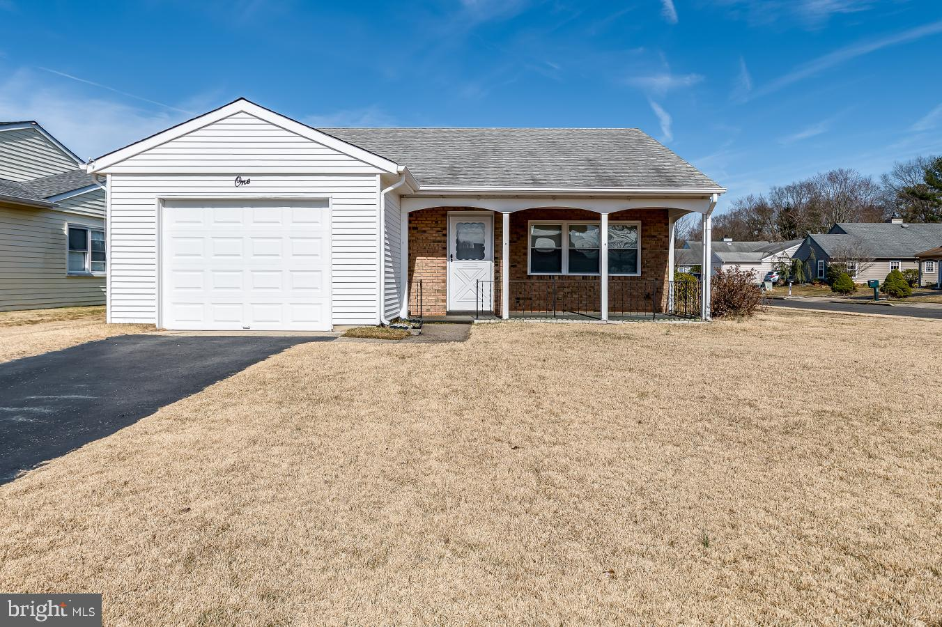 Perfect opportunity to own a little gem in Leisuretowne! This 2 bedroom, 1 Bathroom 1,055 sq. ft. Folcroft model  will make that perfect home with just enough space to be comfortable, yet completely manageable. Located on a beautiful corner lot with established low-growing Zoysia grass that is hardy and easy to maintain. It is also blank palette for all your landscaping ideas. Home has been well-cared for and features updated, efficient heating elements. The eat-in kitchen is bright and airy and has a pass-through into the living room so the rooms are open enough for entertaining, yet offers that little bit of separation. Both Bedrooms are nicely sized. The Bathroom is extraordinarily bright natural light. Garage has pull-down stairs to the attic. Covered front porch has is enclosed by a wrought iron railing. Back storage shed offers plenty of additional storage for outdoor tools and supplies. Home inspection will be conducted in lieu of property disclosure. Termite/wood boring insect inspection will also occur within the week.  Home is being Sold in AS IN condition  - Sprinkler System is also being sold As-Is.