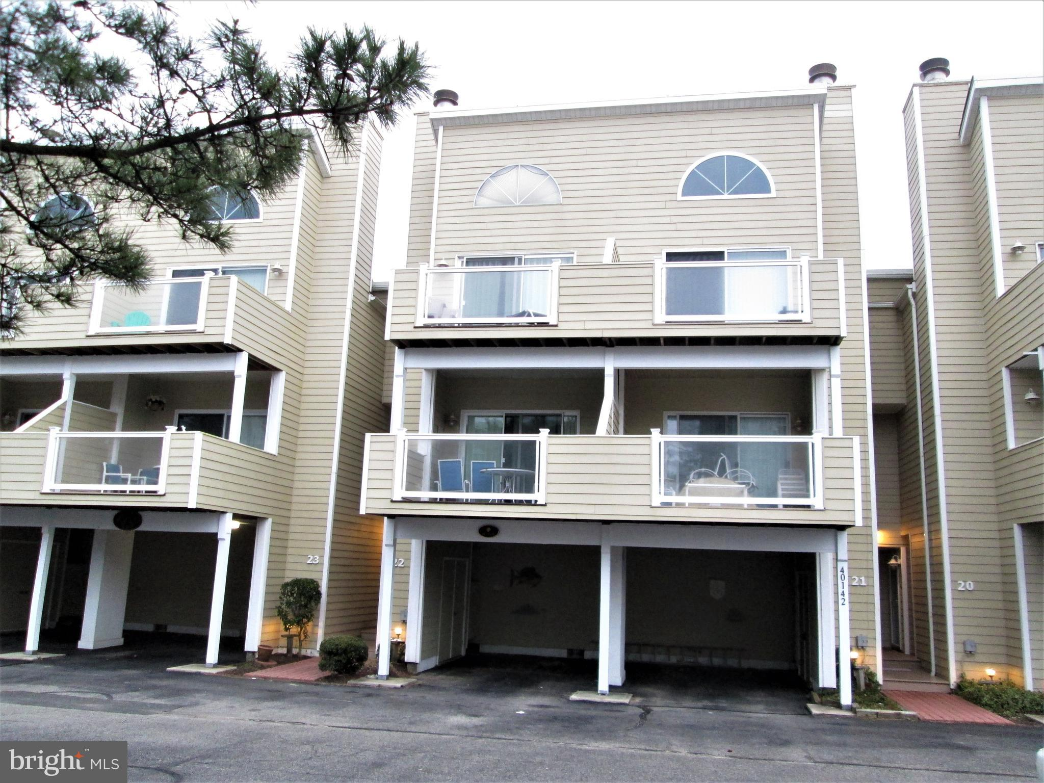 "Beautiful 3 Br. and 3.5 Ba. townhouse on the west side of Bunting Ave.,  Enjoy peak-a-boo views of the ocean directly across the street.  Just about 150 feet to the beach.  All of the amenities here including a community pool.  Park your car when you arrive and walk everywhere within Fenwick.  This unit is being sold furnished with exclusions, list in ""documents.""  Being sold subject to weekly rentals during the summer season. Excellent rental property. The sale of this unit will be used as a 1031 Like Kind Exchange by the Sellers."