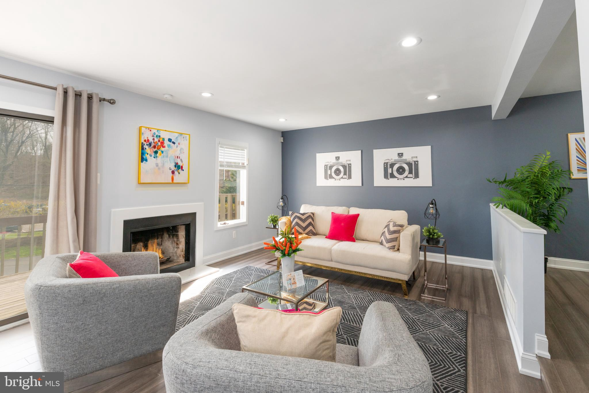 "Situated in the highly sought-after 138 Montrose Community, THIS is the home that you have been waiting for! This breathtaking, fully renovated, three story, three bedrooms, two and one half bathroom townhome boasts 2,000+ square feet of contemporary open floorplan in prime Radnor Township; the PERFECT ""walk to Bryn Mawr"" location.  Enter the foyer of this gorgeous townhome from your private patio.  You will immediately appreciate the attention to detail, open floor plan, beautiful bamboo flooring, large coat closet, fresh powder room, and ample recessed lighting. The first floor also offers a spacious and modern eat-in kitchen featuring stainless steel appliances, granite counters, tiled backsplash, and sleek shaker style white cabinetry – providing a bright kitchen. The kitchen opens to the private fenced in flagstone patio, perfect for enjoying your morning cup of coffee or just to get some fresh air.  Finishing out the main level, you will be greeted by an airy dining room and a large living room. In the living room, you can cozy up next to your eye catching marble fireplace that is adjacent to your custom accent wall. Completing the first floor is a generously sized balcony providing an enormous amount of extra light throughout the first floor living space.  The second-floor features brand new carpeting throughout. You will be impressed by the bright and spacious primary bedroom with heaps of natural light pouring in, a walk-in closet, ceiling fan, and a private en-suite fully renovated bathroom featuring a glass enclosed shower/tub combination. The second bedroom is also situated on this floor with a full renovated contemporary bathroom. Rounding out the second floor is a conveniently located laundry area and linen closet with loads of storage. Perched on the third story is an incredible open and airy lofted bedroom or office, illuminated by two skylights. Best part yet, this home includes TWO parking spaces!   The Montrose community of townhomes is set within lush manicured grounds.  Cool off at the community swimming pool or take a short walk to fine dining, shopping, entertainment, and public transportation. This convenient location is just 30 minutes to Center City Philadelphia by car or train.    Don't miss your opportunity to live in this incredible community, a low maintenance lifestyle just steps away from everything Bryn Mawr has to offer. This WILL NOT last long, set up your private showing today. Thank you for your interest and consideration! ** Please view our matterport tour:  https://my.matterport.com/show/?m=JgVoUVcQgTy&mls=1 **"