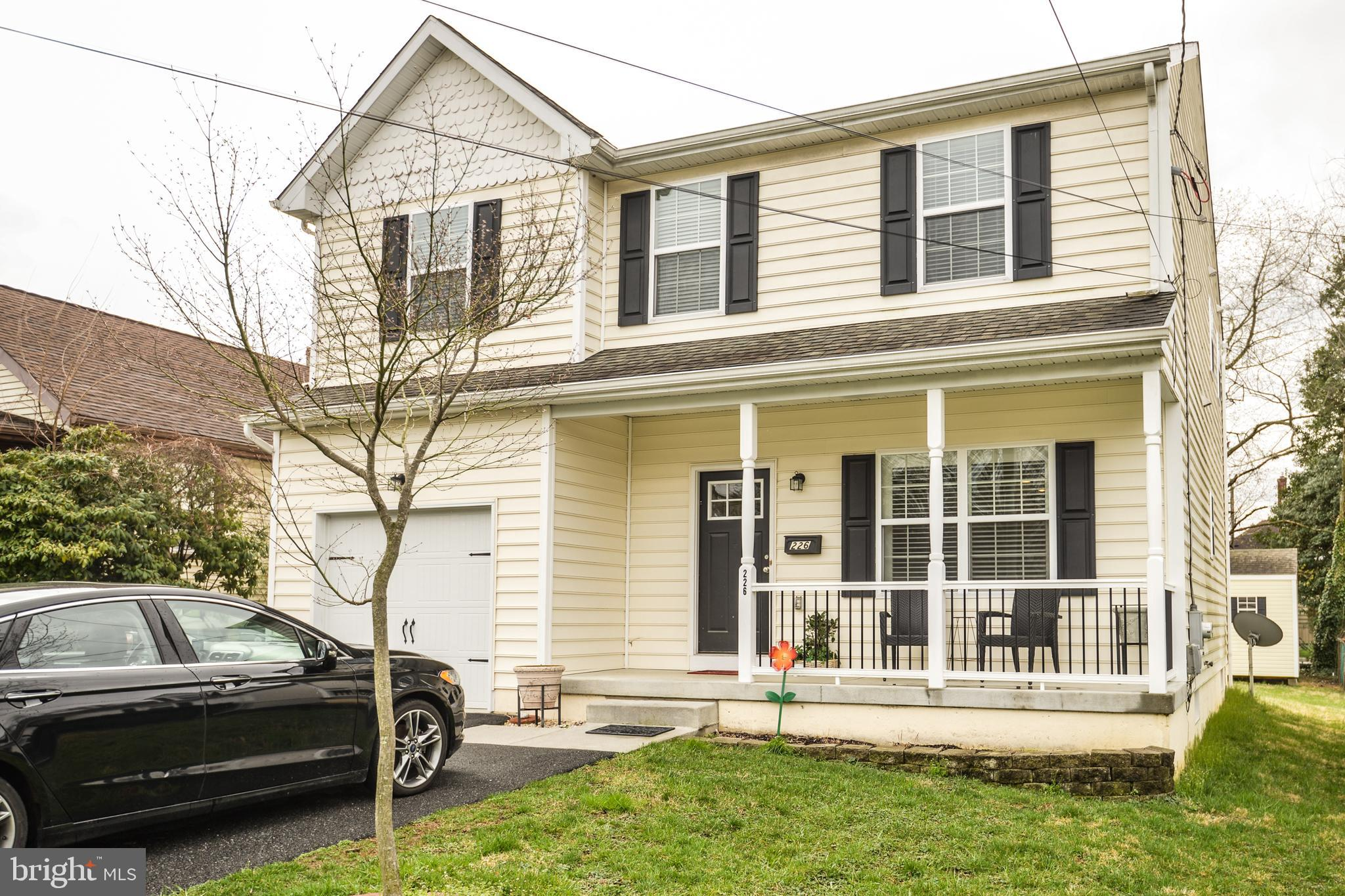Welcome to this incredibly well maintained 2 story colonial conveniently located just off Boxwood Road.   Only built in 2014, this home has been lovingly cared for and gently used.   Compared to other new construction in the area, this home offers 2000 square feet of living space.  The basement was built with an egress window already installed & plumbed for a bathroom so it's ready to be finished for even more living space.  The first floor has gleaming hardwood floors throughout.   The kitchen is well appointed with loads of cabinets, a pantry, granite counters, and a peninsula with room for bar seating.   Opening up to the generously sized family room, this is the hub of the home.   The eating area has sliders which  bring you out to a paver patio  with a retractable awning for outdoor entertaining.  Out back the owner has put an oversized shed which has been perfectly matched to the house.  The upper level offers an oversized master bedroom with one of the largest walk in closets and a master bath .  The additional two bedrooms are also generous in size and share a hall bath.  The laundry has been placed on the upper level for total convenience.  The seller also had a gas line run for the dryer and both washer/dryer will remain with the property.    An expanded driveway adds off street parking for up to 4 cars.  Come check out this 7 year young house and you won't be disappointed.