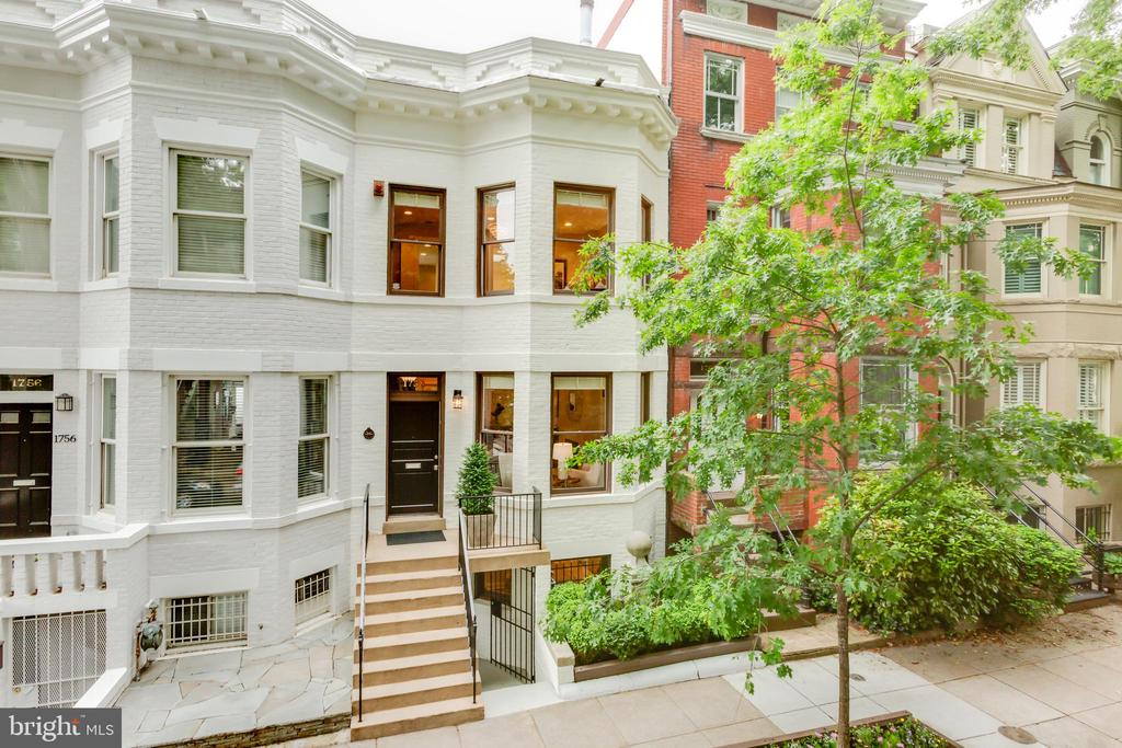 Beautifully renovated and well-maintained rowhouse with outdoor space located within close proximity to remarkable restaurants, shops, and the metro. The main level features an open floor plan with spectacular light-filled entertaining spaces, high ceilings, and large windows. There is a stunning living room with a fireplace that opens to the dining room and a well-appointed kitchen with high-end appliances, marble countertops, and exterior access to the rear deck. There are three bedrooms, including a large light-filled master suite, all of which have en-suite bathrooms with Waterworks fixtures and Ann Sacks tile. Completing this impeccable residence is a study, private south-facing deck, and newly renovated two-car garage **Please Note The Photos Are From The Previous Listing**