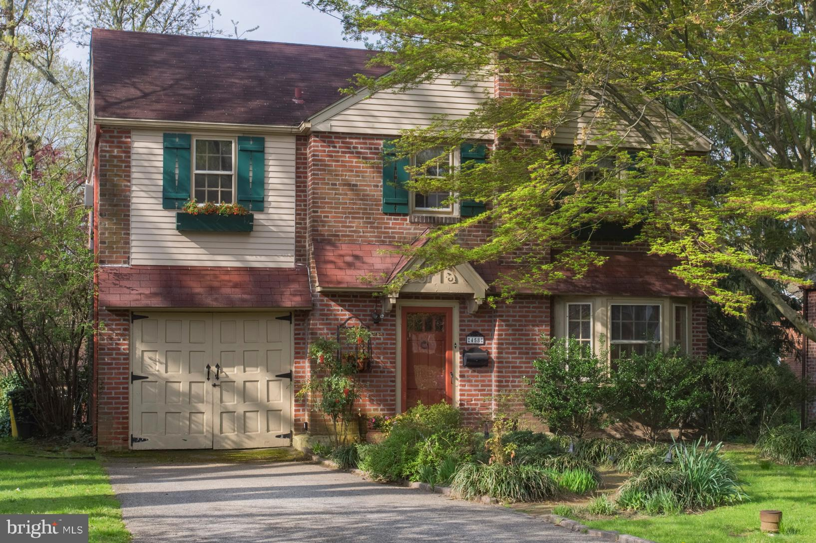 Take advantage of this exciting opportunity to live in a picture-perfect brick home in a tree-lined, family friendly neighborhood. Located in the much  sought after Lower Merion School District, just down the street from picturesque Wynnewood Valley Park. This lovely Colonial is move-in ready, and has many charming features.  Four (4) spacious bedrooms and 2.5 bathrooms. One Bedroom and bathroom are on the main level. Outside front features mature landscaping, a quaint brick path, window boxes, shutters, and a small storage garage.  Inside Open Layout design is light and airy, adaptable and very useable.  There are over 2100 square feet of living space to be enjoyed. The remodeled kitchen has upgraded cabinets and granite counters, leading to the light-filled 1st floor Bedroom/Sunroom/Den and beautiful full bathroom with Stall Shower. This Bedroom/Sunroom/Den contains a wall of glass windows with French doors and high-end Silhouette Blinds looking out onto a level, fenced in, Back Yard, which features a bi-level wooden deck and gas grille hookup.  The partially fenced backyard also has a storage shed, and professionally built Play House (with all year round heating and cooling), which could also be used as an Artist Studio, Office or Meditation Space. There are pull-down stairs (in the 2nd floor middle bedroom) that accesses a large floored attic for extra storage. The spacious finished basement is carpeted, has drywall ceiling and recessed lighting -- perfect as an exercise and rec room. It also features a Queen-sized built-in Murphy Bed, laundry room and powder room.  Supermarkets, high-end shopping, public transit, the train station Lankenau Hospital and schools are all within minutes.