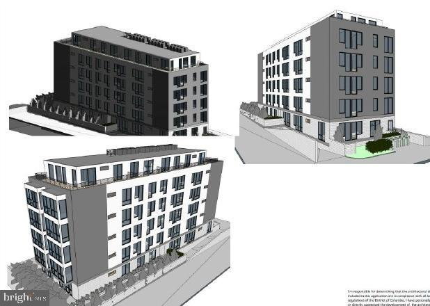 Ready for Development! This lot conveys with approved plans and permits for 30 residential condo units and 9 parking spaces. Units include one and two bedrooms of approximately 750 sf, large penthouses, as well as common areas. Close to public transportation and all the amenities of downtown DC living.