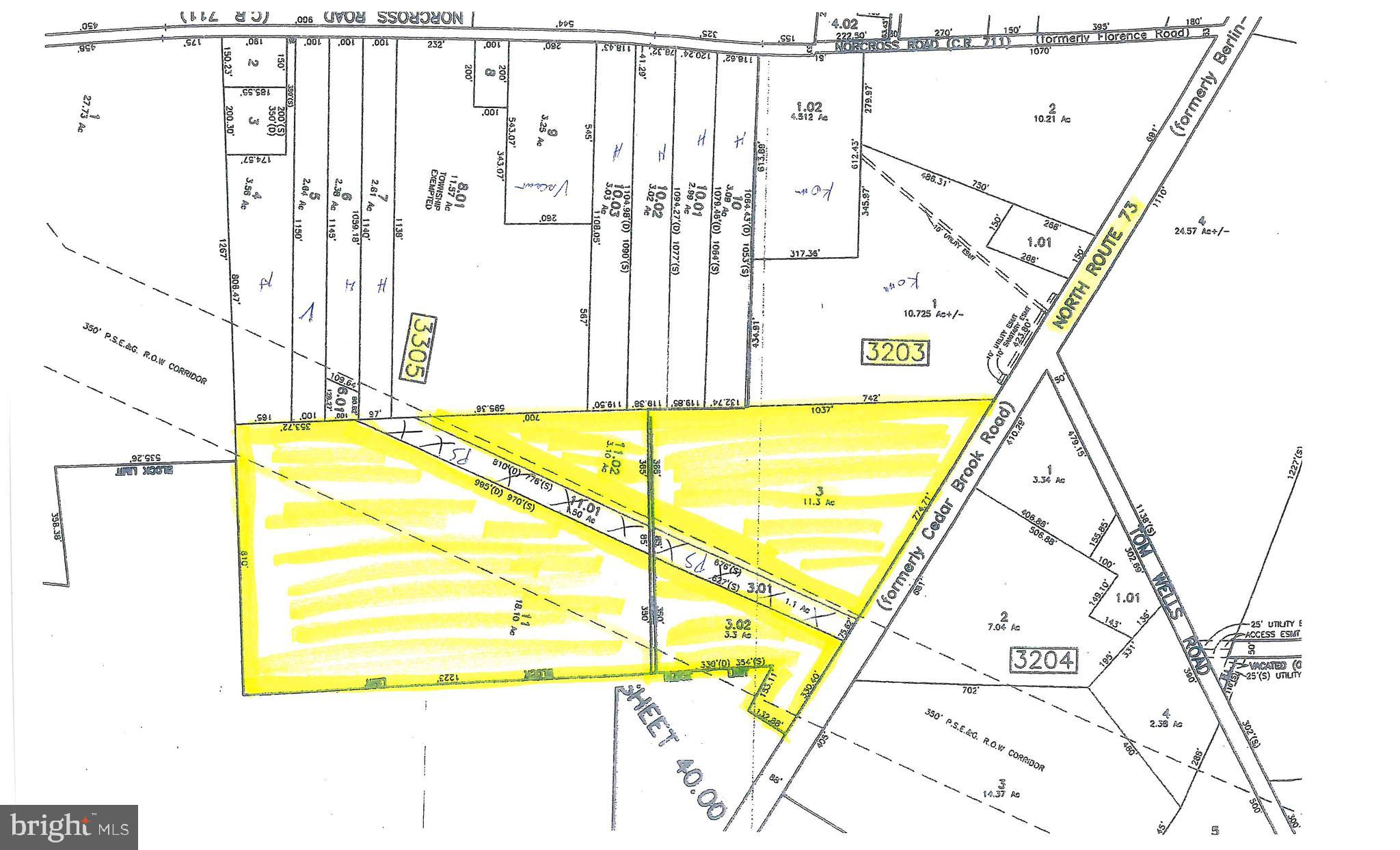 "35 Acres of prime Land on Route 73-Over 1,000 ft Frontage on Route 73, Public Sewer and Water. Zoned Industrial/Commercial. Located next to new Binder Machinery. Great Potential for Industrial Park or Commercial Retail. Price includes a ""Liquor License"". Located just outside of Berlin, the next Area to Boom. Winslow Township has many tax breaks for New Construction, Commercial/Industrial Developments including Tax Abatements. Do part Commercial, part Industrial, all Commercial or all Industrial."