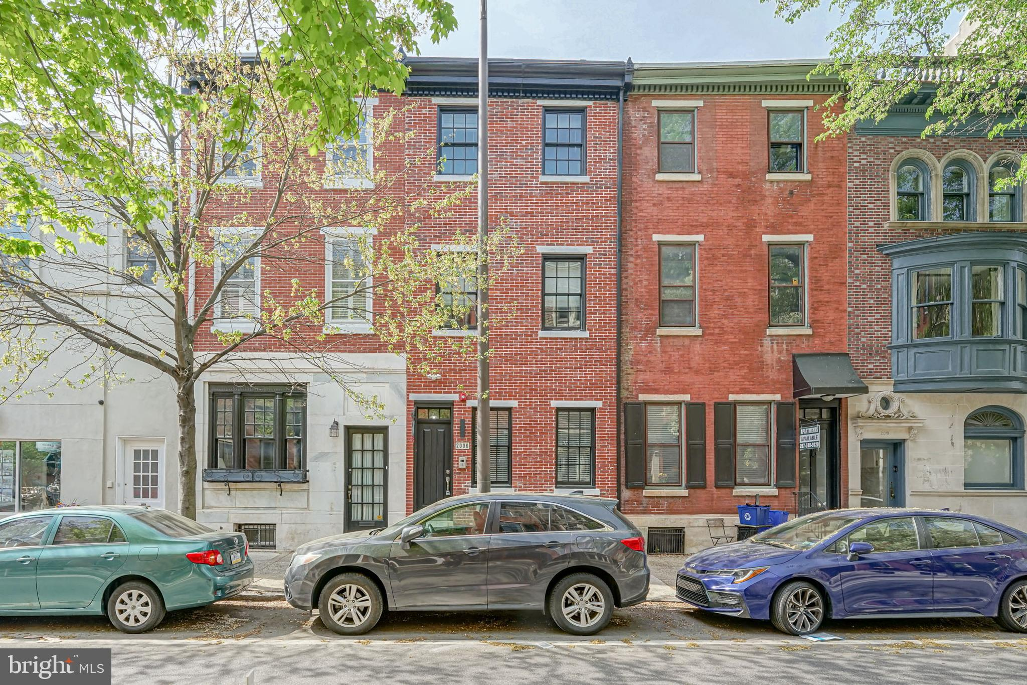 Triplex for sale in the heart of Rittenhouse Square! Renovated top to bottom in 2018.  All new mechanicals, appliances, flooring, you name it! 1- 2 Bed/2 bath unit and 2- 1 Bed/1 bath units. All units are separately metered and have in unit washer/dryer, thermostat and intercom to front door. Gorgeous modern finishes throughout each unit. Steps to Rittenhouse Square, The Schuylkill River Trail, Center City shopping and restaurants. This location can't be beat!