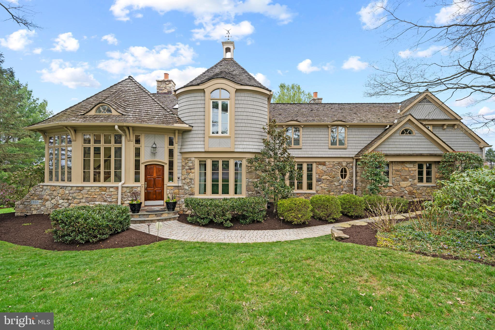 This stunning 5 bedroom, 4.5 bath home is located in the highly desirable Radley Run Country Club Community and Unionville Chadds Ford School District. The minute you pull into the driveway, you will notice the lovely landscaping and hardscaping surrounding the property. The unique driveway, pathways, and patio add to the home's exquisite curb appeal while the spacious patio features raised flower beds and a built in fire pit and grill area overlooking the 8th hole green of the Radley Run golf course. The view is breathtaking! Once inside, you will immediately appreciate the spacious layout, rich hardwood floors, large windows and crown molding throughout. The first floor offers a large formal dining room with pocket doors, a tranquil living room with stone fireplace, and a bedroom/office space with an attached full bath. Also on the first floor, the beautiful kitchen features a breakfast area overlooking the golf course,  stainless steel appliances, and plenty of upper and lower cabinet space. Off the kitchen you will find the expansive family room with bar area, two story stone fireplace and window wall. The laundry shoot located outside the laundry room is a great bonus feature! A spiral, back staircase makes it convenient to get to the large recreation room on the second floor. On the second floor you will also find three spacious bedrooms, the master bed/bath, and two more full baths.  All  4.5 bathrooms were recently renovated and feature gorgeous tile work and brand new vanities. The master bedroom features raised ceilings and an abundance of closet space, all of which are designed by California Closet. The luxurious master bath is an oasis with a double vanity, walk-in, marble shower, and soaking tub. Lastly, the fully finished basement offers plenty of lounge/recreation space as well as multiple closets for storage. This home is truly one of a kind, you do not want to miss out!! Expected date on market: April 29th.