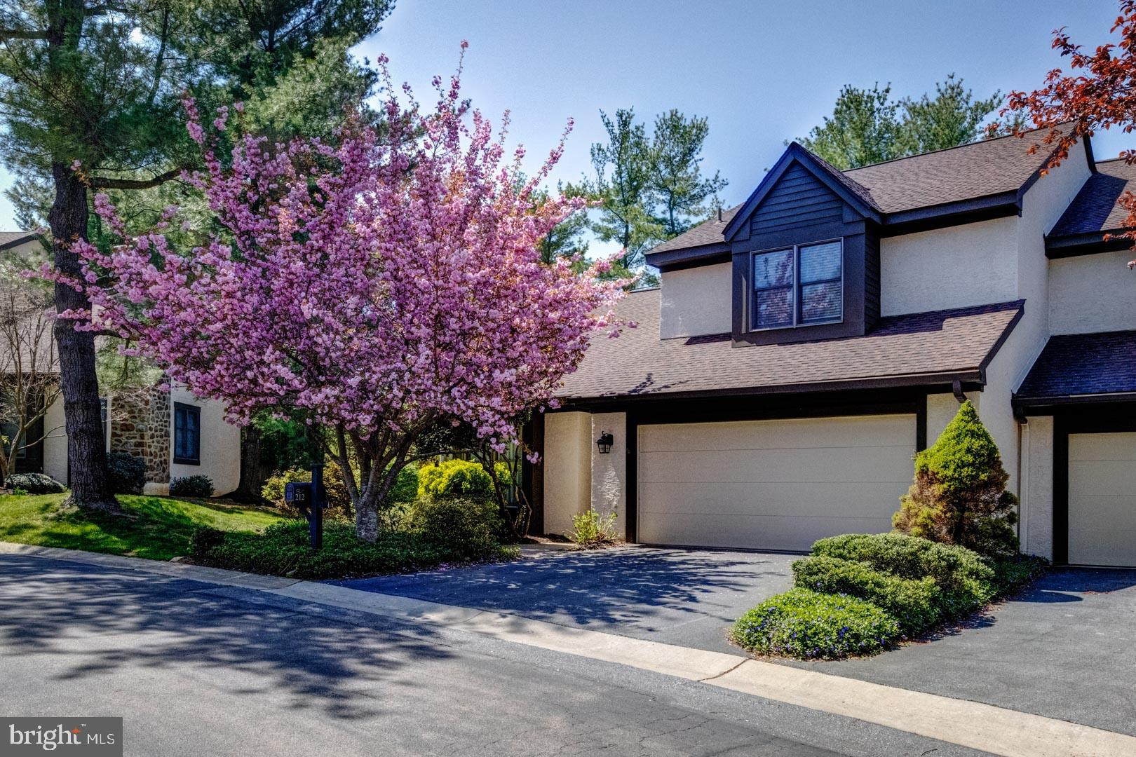 """Have you been waiting for that """"Perfect"""" Spacious Open Floor Plan Townhome in Chesterbrook?  Here it is!  Desirable Carriage House at The Ponds in Chesterbrook * End Home with Walk-Out Lower Level * 4-Bedroom/3-1/2 Baths * Lower Level has Full Bath * 2 Wood-burning  Fireplaces in Living Room and Great Room on Main Level *  Greenhouse off Dining Area * Beautifully Gleaming Hardwood Floors on all 3 Levels * 2 Newly Renovated Baths Upstairs done in Marble and Ceramic Tile  * Main Bedroom/Full Bath Suite with Soaking Tub and Walk-in Closet * Plantation Shutters in one Bedroom * Updated Kitchen with Oak Cabinets and Granite Countertops with Garden window * Gas Cooking * Stainless Steel Refrigerator is included * Oversized Deck off Main Level and Patio off Lower Level Finished Space * Finished 2-Car Garage/walls have just been freshly painted * Lots of built-in Shelving * Landscaping is very well kept with many plantings especially Butterfly Bushes and Hydrangea * Total Living Space Square Footage including Lower Level  is:  2712 SF (+/-) * Interior Photos are in progress * Exterior Photos were taken in the Spring to illustrate the gorgeous  Cherry Blossoms * Home is staged and professionally photographed  * This Carriage Home is one of the largest in The Ponds with the Walk-Out Lower Level * Excellent Location in the Complex * T-E Schools * Showings will begin Tuesday, July 20 * First Open House will be held Tuesday, July 20 from 11 AM to 3 PM.  Open House Saturday, July 24 is Cancelled."""
