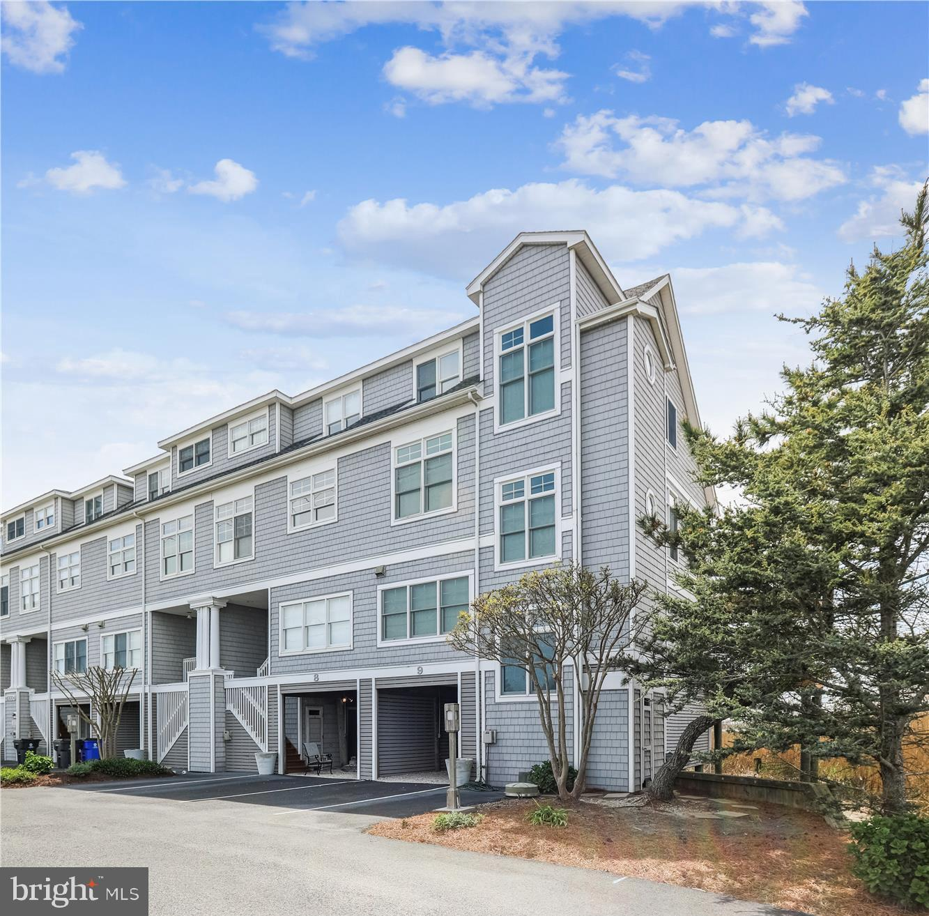 This amazing stretch of private communities feature the most sought after residences; all on the ocean or the bay yet a short bike ride or drive into both Bethany Beach and Fenwick Island. Both small towns offer eclectic shopping and a wide variety of restaurants.   Waters Edge is a quaint community of only 17 townhomes located directly on the bay ad feature beautiful ocean views as well.  9 Waters Edge is even sweeter; an end unit with 180' of ocean and bay views, from sunrise to sunset.  An entire floor is designated owners suite including a private bay front deck, sitting area in the master bedroom and study area.  At the end of the day; soak in the steeping tub overlooking the ocean. The home is used both by the owners and some rentals are booked each summer. 2021 Rental contracts are to be honored. Whether year round or seasonal Waters Edge has a place in your future.