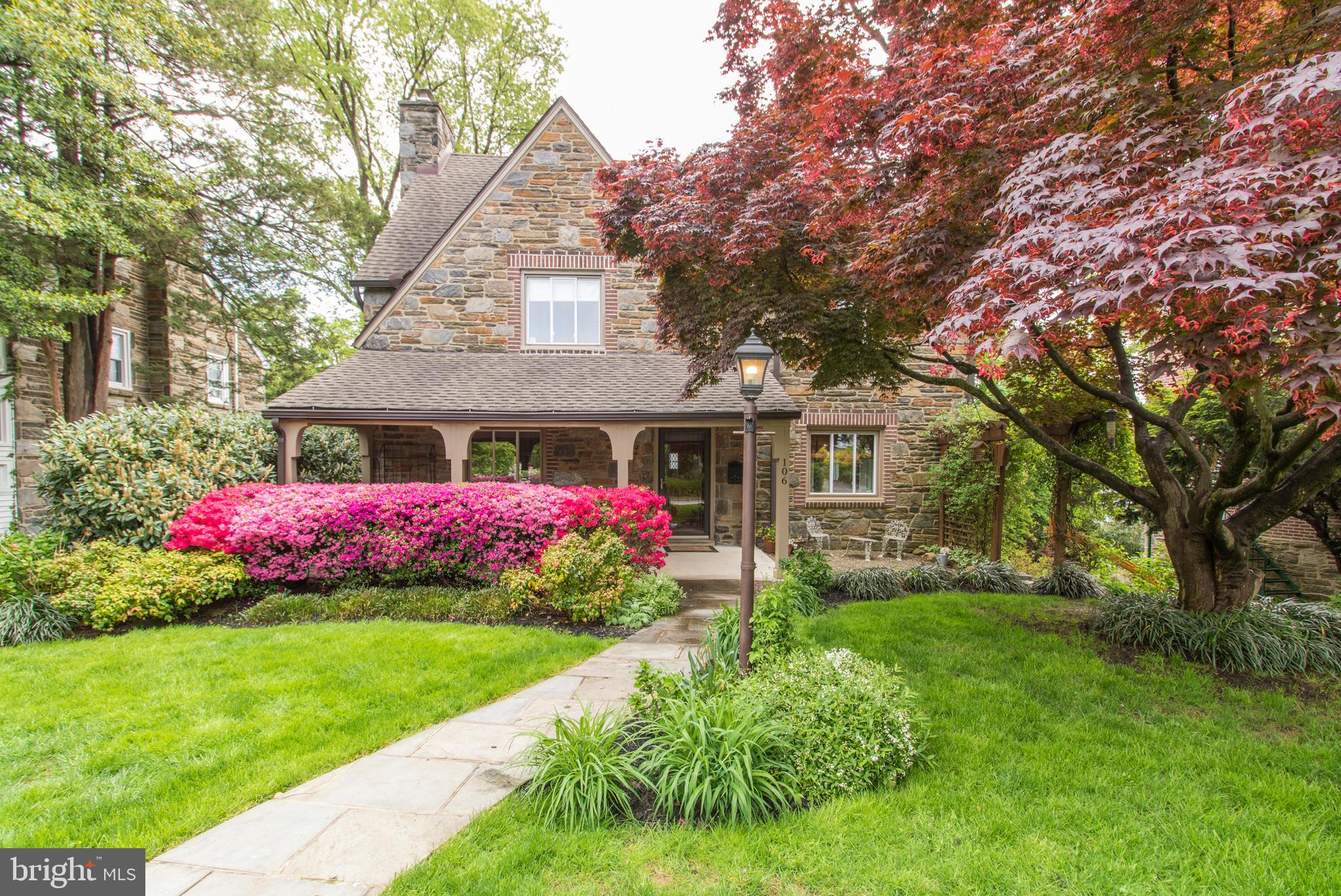 Welcome to the most walkable neighborhood in prestigious Bala Cynwyd, where  you are greeted by friends walking by. As you step inside this impressive Traditional Stone Colonial Home, you feel a sense of calm and warmth. Once inside you're struck by the magnificent well appointed home that holds the stories of years of Holiday celebrations and family milestones shared within the walls. This house has the perfect floor plan: great flow from room to room, finished basement, updated kitchen , outside deck. This deck has a stairway that goes down to the back yard. Entertain with ease in this lovely outdoor space. House has a front porch that is a great option to have your morning coffee or a glass of wine at night to see the neighbors passing by. Spacious living room with a wood burning fireplace. The dining room also has windows that let lots of light come through. There is a half bathroom on the first floor. The tastefully done kitchen with beautiful quartz countertops, and a handmade tile backsplash add a touch of class.  On the second floor you can find three bedrooms. One bedroom has built-ins that includes beds, closet and a desk. The second bedroom is large enough to fit a queen or king size bed and also has amazing light from the windows. The primary bedroom has a ceiling fan and a beautiful in suite bathroom. The third floor offers you the flexibility to create the space you need for today; fourth bedroom, playroom, office, or exercise space. The basement leads to a 1.5 car attached garage with plenty of storage space. You will notice the new HVAC system, gas furnace, and water tank - in addition, a new gas line has been installed for use in the kitchen. This house has it all! It is located in Lower Merion School District, Merion Elementary, and Bala Cynwyd Middle Schools. Easy walk to the train station, library, playgrounds, restaurants, and much more! Now is your chance to make this house your next home! Get your best Mother's Day Present ever! Don't let this