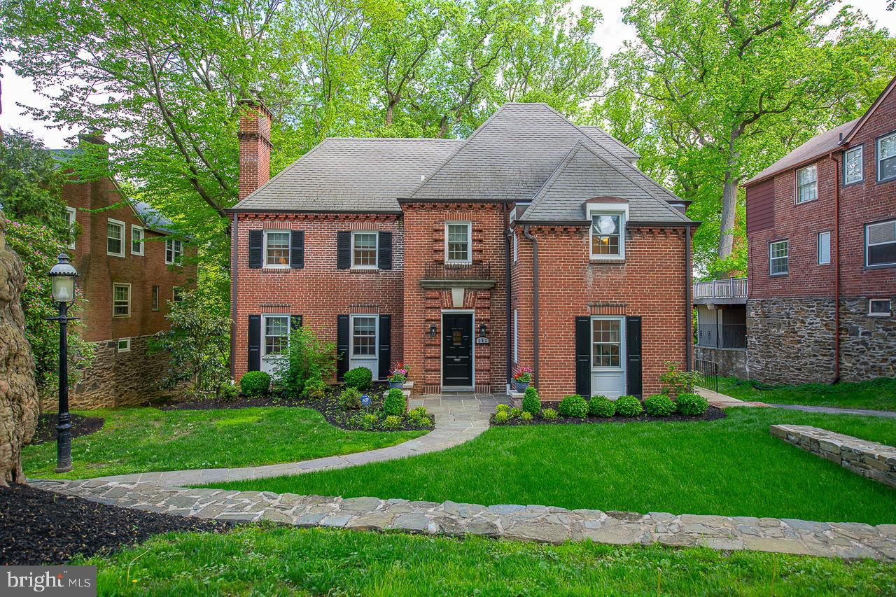 In the sought-after neighborhood of Merion Park, this unique brick home was completely renovated by Sposato Home Builders in 2016. If you're looking for an old-world charm exterior with an open floor plan concept this is the home for you. The kitchen features stainless steel appliances and quartz countertops. Subway tile backsplash. Walk out to extra large deck with staircase to rear yard. Enter the front flagstone walkway to the original wood door leading to the entry with staircase. Office and powder room off entry. Living room with wainscotting and fireplace combine original and modern designs. Side door entry brings you into the mudroom area for all your outdoor gear. Ascend upstairs to another exit opening to the second-floor deck shared with the owner's suite. Jack and Jill bedrooms share a bath. Hall laundry, and amazing owner suite. Walk-in closet, state of art bathroom with double sinks, large shower, frameless glass doors, quartz countertops. The third floor is a fourth bedroom suite with a beautiful bathroom, an enlarged closet is that can easily be used as a sitting room area. Lower level with finished recreation room, powder room, another mud room, two-car attached garage, and an outside entrance to brick patio with arches overlooking the rear yard. The home is temperature-controlled by a two-zone HVAC. Walkability to General Wayne park, transportation, shopping, and restaurants. All this plus Lower Merion School District.