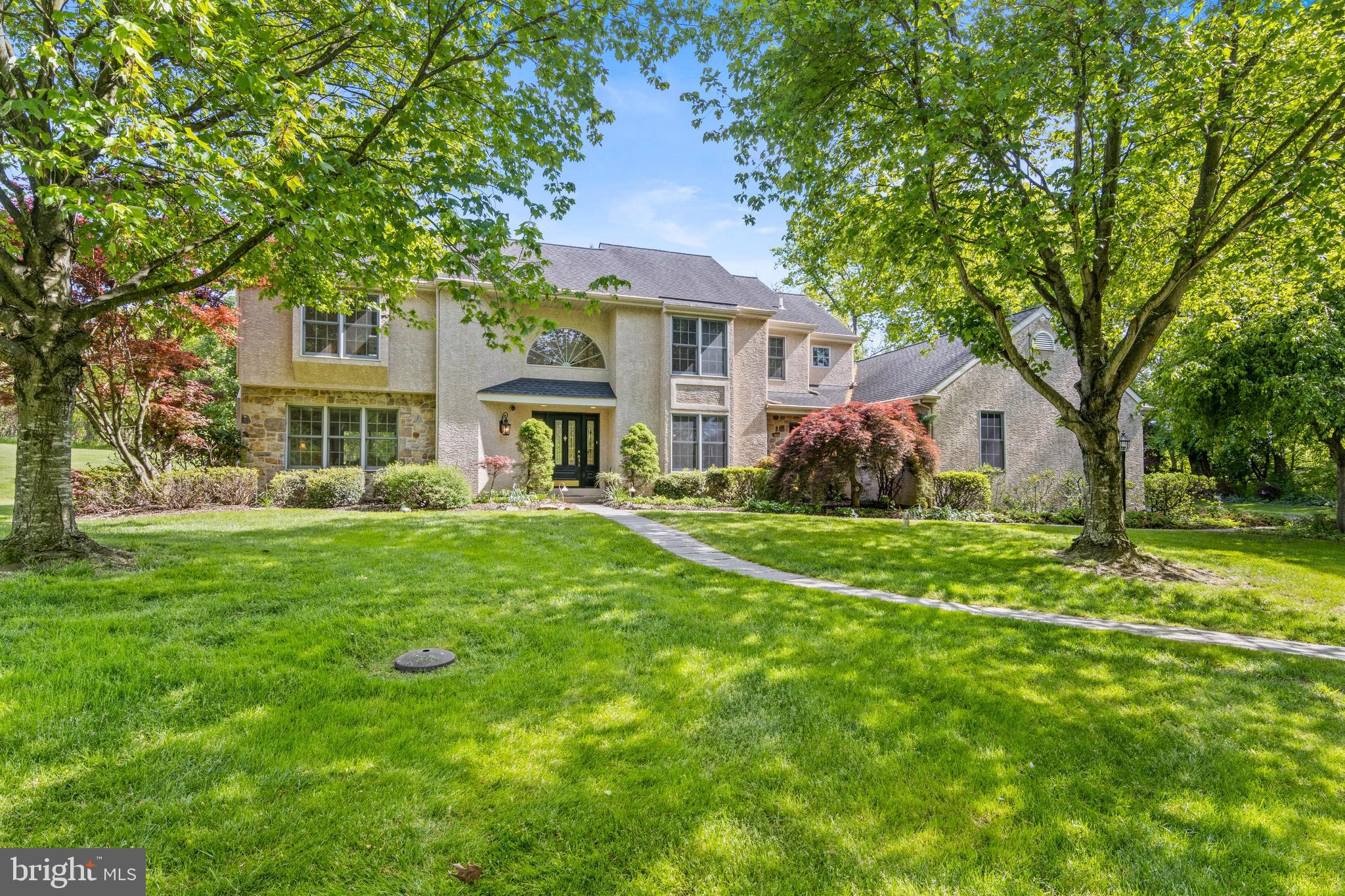Welcome to this gorgeous 4 BR 3.1 Bath custom home in award-winning Unionville-Chadds Ford School District!  Situated on a gorgeous 4 acre lot, this stunning home has been built to the highest standards and has been meticulously maintained by the original owner!  Established landscaping and trees surround the private grounds.  Soaring 2-story foyer with gleaming hardwood floors is flanked by a Formal Living Room and Formal Dining Room.  Living Room with wood-burning fireplace leads to a rear deck.  The bright and cheery Family Room has 2-story ceilings and numerous windows overlooking the expansive rear yard.  Kitchen offers tons of counter space and storage with a large center island with cooktop, updated stainless appliances, Breakfast Room and large walk-in pantry.  Professional office is adjacent to the Kitchen.  Relax in the 4-Season Sunroom that is heated and cooled and overlooks the custom paver patio and 2nd deck!  Upstairs, the Main Bedroom features a large walk-in closet and Spa-Like Bath!  Down the hall, a Princess Suite has its own Full Bath and large closet.  2 additional large guest Bedrooms and a Center Hall bath complete this level.  So many possibilities for the expansive open 4-acre lot! Whole House GENERAC Generator.  Easy access to all major routes and minutes to downtown West Chester borough.  This home has so much to offer!