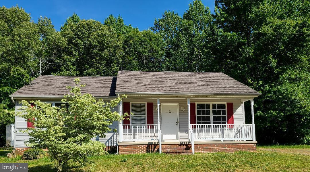 You will fall in love with this adorable 3 bedroom 2 bath rambler with front porch and back deck.  New Roof just installed; Spacious kitchen with room for kitchen table; large back yard; lot size is .46 acre;  Just a few miles from Rt 5 Charlotte Hall; close to shopping, Amish market, urgent care, and library.  Primary bedroom has primary bath.  HVAC installed 2015; Stainless appliances 2 years old; new microwave just installed.