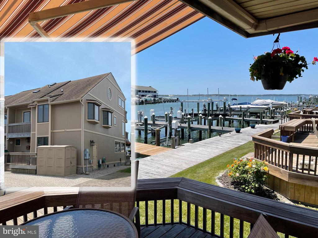 """A MUST SEE intricately detailed luxury Ocean City Duplex that delivers both sophisticated form and function in the Runaway Bay community! This completely renovated and updated home ( all furniture and 3rd level games are negotiable ) delivers over 1,250 additionally added sq ft of living area and plenty of room to roam, relax, and play! You are welcomed through the front door by the tranquil water views and the impeccable appointments this well- designed home has to offer. Coastal style emanates throughout with a bright and easy flowing floor plan highlighted by hand-scraped bamboo wood flooring, embellished by a neutral color palette all bathed in sunlight. The great room opens to a wall of windows that frame the living area with gas fireplace and expansive dining area, accessorized with recessed lighting, custom ceiling fan and craftsman details. Let your inner chef be inspired in the gourmet kitchen with extended peninsula and breakfast bar, 42"""" custom solid cherry cabinetry including display cabinets and wine storage, granite countertops, and a planning station. The kitchen also boasts GE Café appliances including induction range, refrigerator with Keurig coffee maker, Advantium 240 microwave, Gen-Air dishwasher, trash compactor and insta-hot. During the renovation to update this beautiful home the owners took into consideration the challenges of weather and the elements on coastal residences, making sure from the ground-up, and inside and out they were prepared. The updates include: encapsulated crawl space with spray foam insulation, Pella windows, updated 400 AMP electrical service, Brazilian Ipe Walnut decking, new roof and rear roof with ice shield, zoned heating and cooling for each level, weather sensing electric canopy, and early in the design process decided the 3-story staircase needed to be moved so that each morning they would be greeted by the amazing canal and bay views!  The seamless main level open plan is completed by a bedroom with en-suite and"""