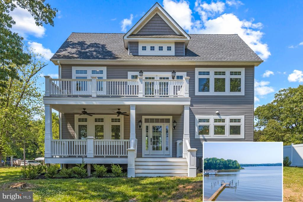Staycation in style and solitude.  This majestic waterfront property on the Magothy River has it all.  An estate, nearly 3 acres, surrounded by a natural sanctuary commanding expansive views of the Magothy River.  The ultimate setting to celebrate the Chesapeake Bay waterfront lifestyle all year long.  Complete with new custom home, water's edge renovated Beach House, deep water pier (6 ft water depth), multiple large vessel slips, boat ramp and 220 ft. of sandy beach.  Opportunities like this rarely come to the market!  The western facing panoramic water views offer the perfect vista to savor the sparkling afternoon sunshine and glorious sunsets every day.  Just up the hill from the beach proudly stands a brand new custom 3 bed, 3 bath home with an open floor plan, 9 ft. ceilings and a gourmet kitchen with a large center island.  The water side porch provides a tranquil area for dining, relaxing and outdoor entertaining.  The property location is a peaceful setback that affords privacy and direct access to the Beach House.  Entertaining opportunities are endless, as the beach house has ample parking, extensive waterfront access and a lovely private beach for optimal waterfront recreation.  The Beach House has an open floor plan with 2 bedrooms, a full bath and complete kitchen (modern cabinetry, quartz countertops and high-end appliances).  The Beach House also has full window walls to capture the wrap around water and nature views.  This property offers the perfect location for quick access by boat to the Chesapeake Bay.  Commutes are a breeze with close proximity to Route 95, 97, 295 and the BWI airport.  To explore the property without leaving your home, be sure to view the HD Video Tour.  Don't let this one slip away!