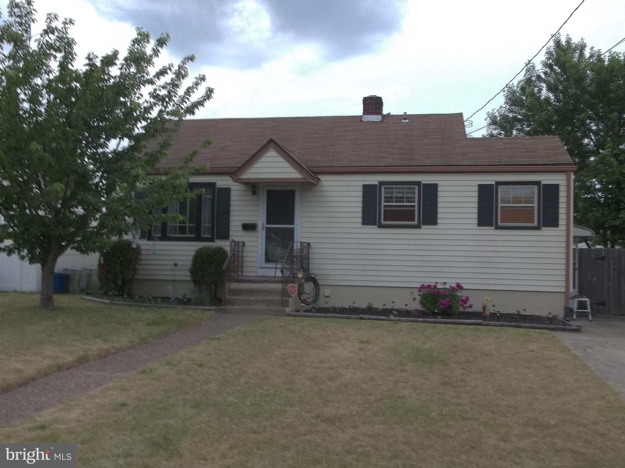 Come See This 2 Bedroom Home In Bellmawr Boro, Featuring A Large Living Room, Eat-In Kitchen, Full Basement With Finishing Possibilities, And A Fenced Backyard, Ideal For Summertime Fun and Entertaining Gatherings! Seller Is Replacing The HVAC System With A New Furnace And Central Air Conditioning Units. Make Your Showing Appointment To See This Nice Home.