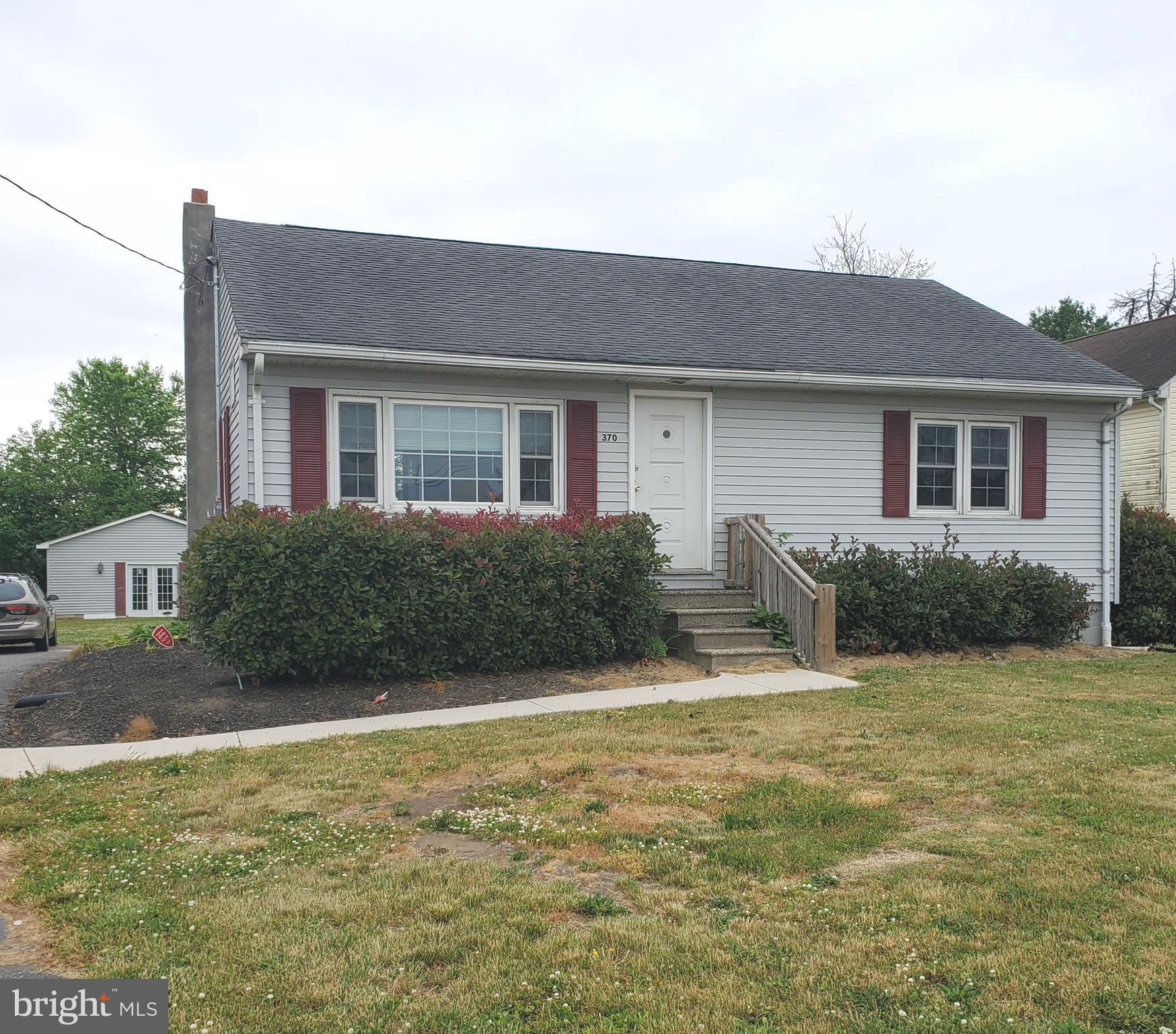 Come and see this move-in ready home located in Pennsville Township. Presently zoned outside of the flood-requirement area, this could be your first home or a great downsize. Upgraded within last few years with high-efficiency gas heater, central air, gas hot water heater, vinyl flooring, bedroom carpeting. This lovely home also offers upgraded attic insulation, oak cabinetry in kitchen, upgraded bathroom, black top driveway. Detached building may be able to be re-converted back to oversized garage door in order to use as workshop or park cars, instead of its current use for recreation space.  Make your appointment today!