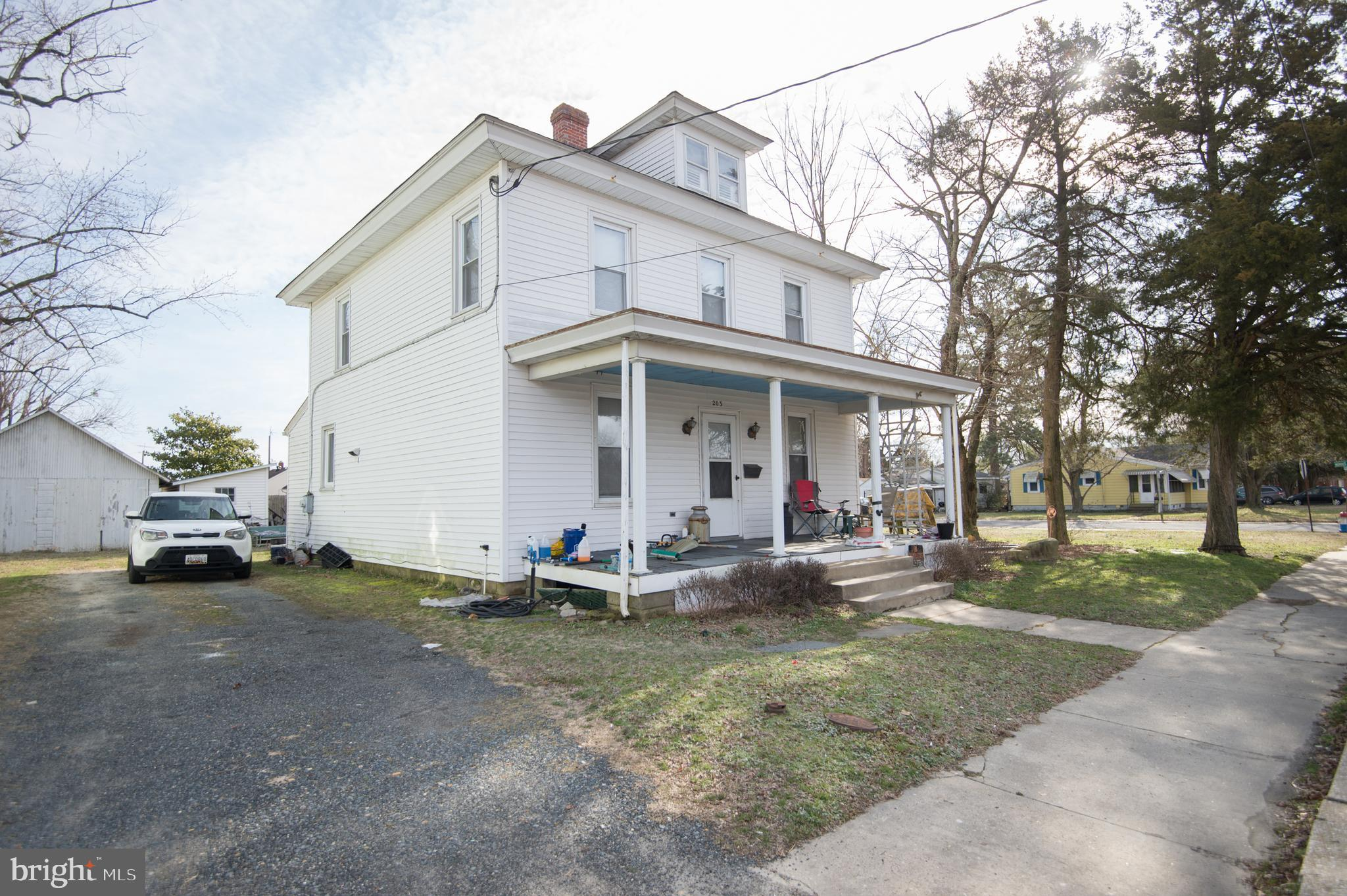 Two houses for the price of one!  Live in one and rent the other,  or use this as an investment property!  Corner lot.