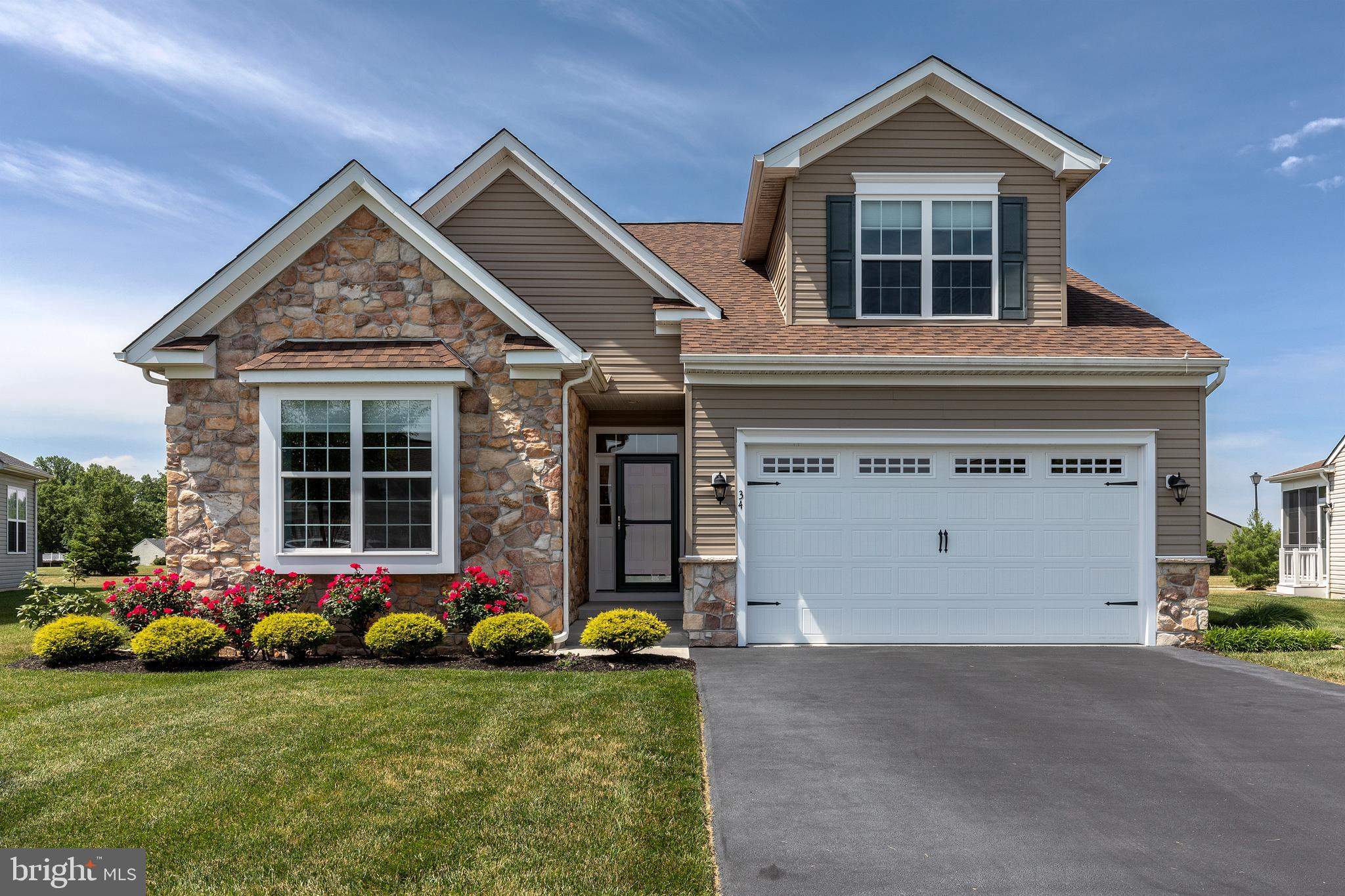 """Welcome home! The popular Active Adult Community of Champions Club is in a perfect location. 30 minutes north of the beaches and minutes from Dover, situated next to Jonathon's Landing golf course.  The amenities are fantastic with a large Club House and outdoor pool. Outside, this home features a stone front accent and beautiful landscaping. Step into the large foyer and notice the custom paint colors throughout and the hardwood floors. A nice-sized guest room is currently being used as an office with an adjacent full bath.  Next, notice the formal dining room just off the kitchen. The kitchen is large with granite countertops,  a peninsula, and a breakfast area.  A large great room with a fireplace and a sunroom leading out to the deck. Upgraded window treatments throughout. The Owners Suite is large with a walk-in closet and 2nd closet and of course a full owners bath. Now head upstairs to a 3rd bedroom with a full bath and private loft. Don't forget to check out the crawlspace. This is a conditioned crawlspace with a concrete floor and almost 5'-0"""" tall. It is like a short basement."""