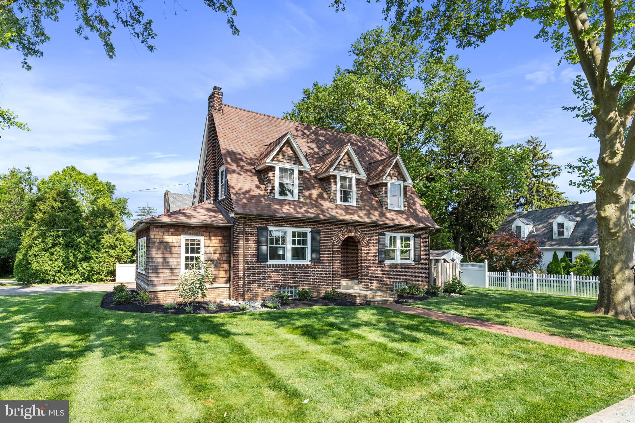 This spectacular Brick Colonial is located on a beautiful street just a few blocks from the Daylesford Train Station, Trediffrin-Easttown Middle School, and Conestoga High School in award-winning Tredyffrin-Easttown school district.  This charming 3/4 bedroom (option to use family room as a first floor bedroom, if desired), 1 full bath, and 1 half bath oozes with charm. Exquisitely appointed throughout and beaming with natural light, the 1st floor has an inviting entry way, a lovely living room with brick fireplace, a side porch or office overlooking manicured grounds, a kitchen that opens to a family room, a dining area with access to the side deck, and a powder room.  (Note: The 1st floor powder room is plumbed for a shower.)  The second floor includes a large master bedroom with walk-in closet, a full bathroom with glass shower/tub combo, and 2 other spacious bedrooms.  There is plenty of storage in both the walk-up attic as well as the basement which includes the laundry and two 2 other nicely sized rooms, which would be easy to finish and enjoy as a playroom or home gym.  Enjoy this flat, well-landscaped yard, overseen by an expansive deck which serves as an oasis for relaxing or entertaining and a large shed for outdoor equipment storage. It is an easy walk to Paoli/Thorndale R5 train station with service to Philadelphia, and close to Paoli's Amtrak service to New York.  Wonderful shopping and delicious restaurants are also very close.  This property is a must-see! **SHOWINGS WILL BEGIN MONDAY, JUNE 14.