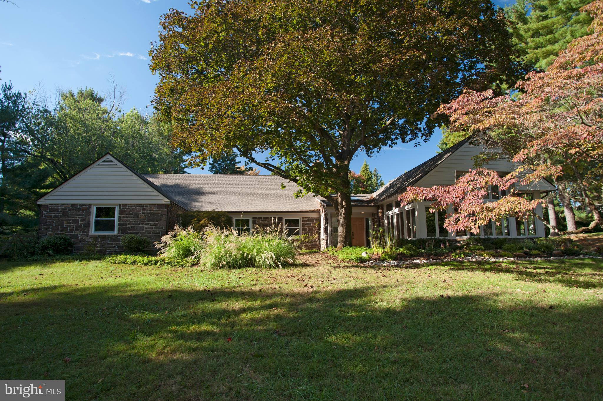 """Welcome to this wonderful 4 Bed/4.2 Bath, Stone Cape Cod!! It is on a quiet Cul-de-Sac street and perfectly situated for privacy, but in walking distance to the heart of Gladwyne and Bridlewile Trails. The house was fully renovated over the last 5 years.  No room during the renovations remained untouched. The expanded Eat-in Kitchen ties in with the Family Room and Formal Dining space, which is optimal for entertaining. A separate beverage/coffee centers and center island with copper prep sink and rustic wood countertop, give the Kitchen additional prep space and storage. A Gourment Kitchen-Aid Appliances package includes a 36"""" gas cook top w/ range hood, double oven convection microwave w/ warming drawer. From every room along the back of the house, you can access the fenced in, flat yard with the heated pool. In 2015 the pool was converted to a SALT WATER system. The large outdoor, attached shed was even converted into a fantastic mini kitchen and OUTSIDE SHOWER! The Owner had professional rendering done for an expansive outdoor Kitchen and stone patio with outdoor fireplace. A Contractor crew is at your fingertips to finish the outdoor oasis to your liking, before the end of the year. There is separate room for storing pool equipment or use as a changing room. Outdoor entertaining at its finest. Back inside, the Main Floor MASTER SUITE offers a very large on-suite bathroom with an 8' wide his & her walk-in shower w/ seamless shower glass. The two walk-in closets and a 3rd closet Hall Closet provide a ton of his & her space! The remaining 3 Bedrooms each have their own designated bathroom w/ tub. There is also a FABULOUS 2-Story, 650 sq. ft. BARREL ARCH GREAT ROOM w/ high arched ceilings and large wood cased windows. The original custom built-ins were even re-worked. Moldings on the ceiling and chandeliers help accent the gorgeous arch. This room is evenly divisible for living, working and/or entertaining and is perfect for a pool table or fun nights of dancing in"""