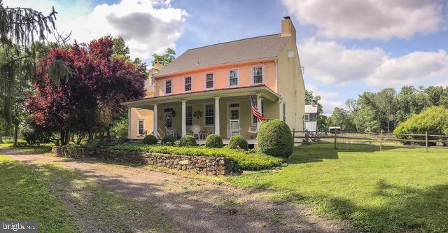Indian Deep Farm, c.1730 & 1830's, has been a local landmark for over two hundred years and boasts wonderful equestrian amenities!  This historic home was one a part of the Underground Railroad and, in 1777, was on the edge of the Battle of the Brandywine. Set on 22.4 acre property exudes historic charm in the 5 bedroom, 2.1 bath home, large barn, and tenant house with its own private access. The home features four fireplaces, including the original cooking fireplace in the Family Room plus fireplaces in the Living Room and in two upstairs bedrooms. Off the Dining Room is a newer Kitchen with stainless appliances. The oldest part of the home is a self contained in-law suite, if needed, and contains a large room with the original cooking fireplace on the main level, a small Kitchen, and its own staircase to two bedrooms and a full bathroom on the second level. This area would make a separate living area for a family member or become a fantastic, income producing Airbnb! The main staircase in the c.1830's brick addition leads to three bedrooms, the home's laundry, and a full bathroom. There is a two bedroom, one bathroom Tenant House with a separate driveway that rents well. For the equestrian, there is a 20 x 40 meter dressage ring with lights. The conservation easement allows for the construction of an indoor arena. The historic barn houses six large stalls and a wash stall with hot and cold water. The Barn's loft area offers huge volumes of space that offers many options. Other farm buildings include the Milk House, now the feed room, and the original Blacksmith Shop which has an original Carpenter Shop upstairs. There is also a Work Shed that contains diesel tanks for the farm equipment. Lastly, there is an Equipment Shed that has two horse stalls which are currently home to the farm's chickens! The farm has 10 paddocks ranging in size from 1 to 1.5 acres each - five have run-in sheds. Additionally, the farm has three to four acres of woodlands. This is a great fa