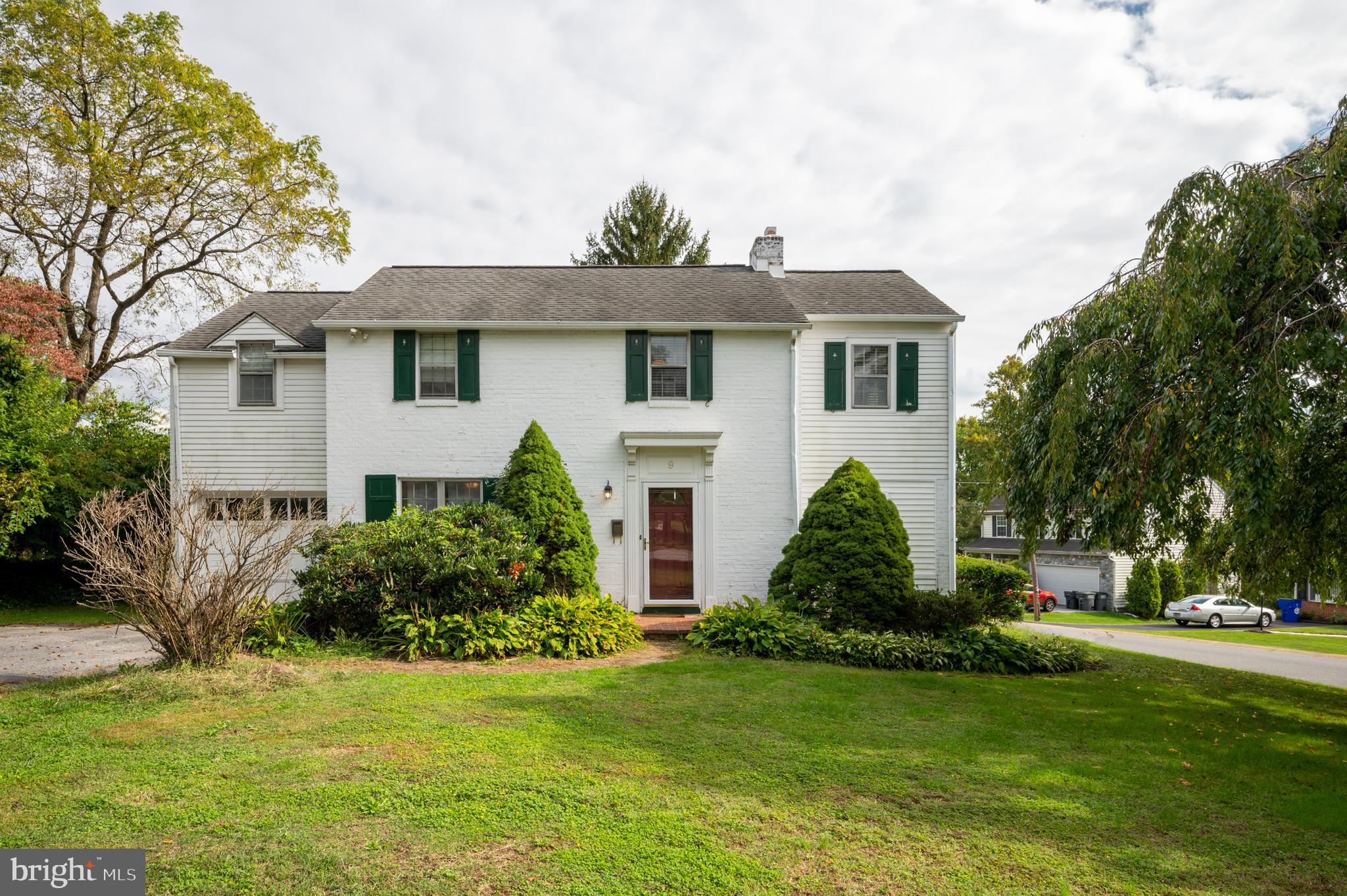 Beautiful colonial in Delaire!  Sitting on a spacious corner lot, this home features two large living spaces on the main floor, both with fireplace - in addition to the dining room, kitchen, another eating area, and powder room.  There is also a porch of the living room that the current owner started to finish, great for an office, exercise area, or play room.   Upstairs you'll find a spacious master bedroom with adjacent sitting room, and generous master bath.   Two more bedrooms on this level and another full bath.   Other amenities include a new air conditioner, one car garage, and basement.  Conveniently located near Philadelphia Pike, I-495, I-95 and numerous shopping and restaurant options.  Don't wait!  Make your appointment to see this home today!