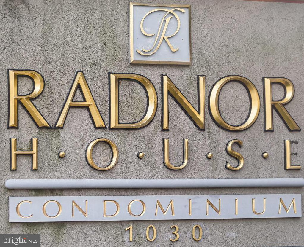 """Highly desirable 1 bedroom/1 bath condo in Radnor House on the Main Line!  Located on the second floor and closest to the elevator.  This spacious unit is also """"pet friendly"""".  Recently updated galley-style Kitchen, large Living/Dining Room combo, large Bedroom and an updated Hall Bath. Radnor House offersnumerous amenities: on-site coin-op modern laundry facilities, 24-hour Security Monitoring, Grand Lobby, beautiful pool and barbeque terrace, plenty of parking, and a storage bin.  Radnor House is a non-smoking facility.  Easy walk to train station and close to major roads and highways, as well as local shopping."""