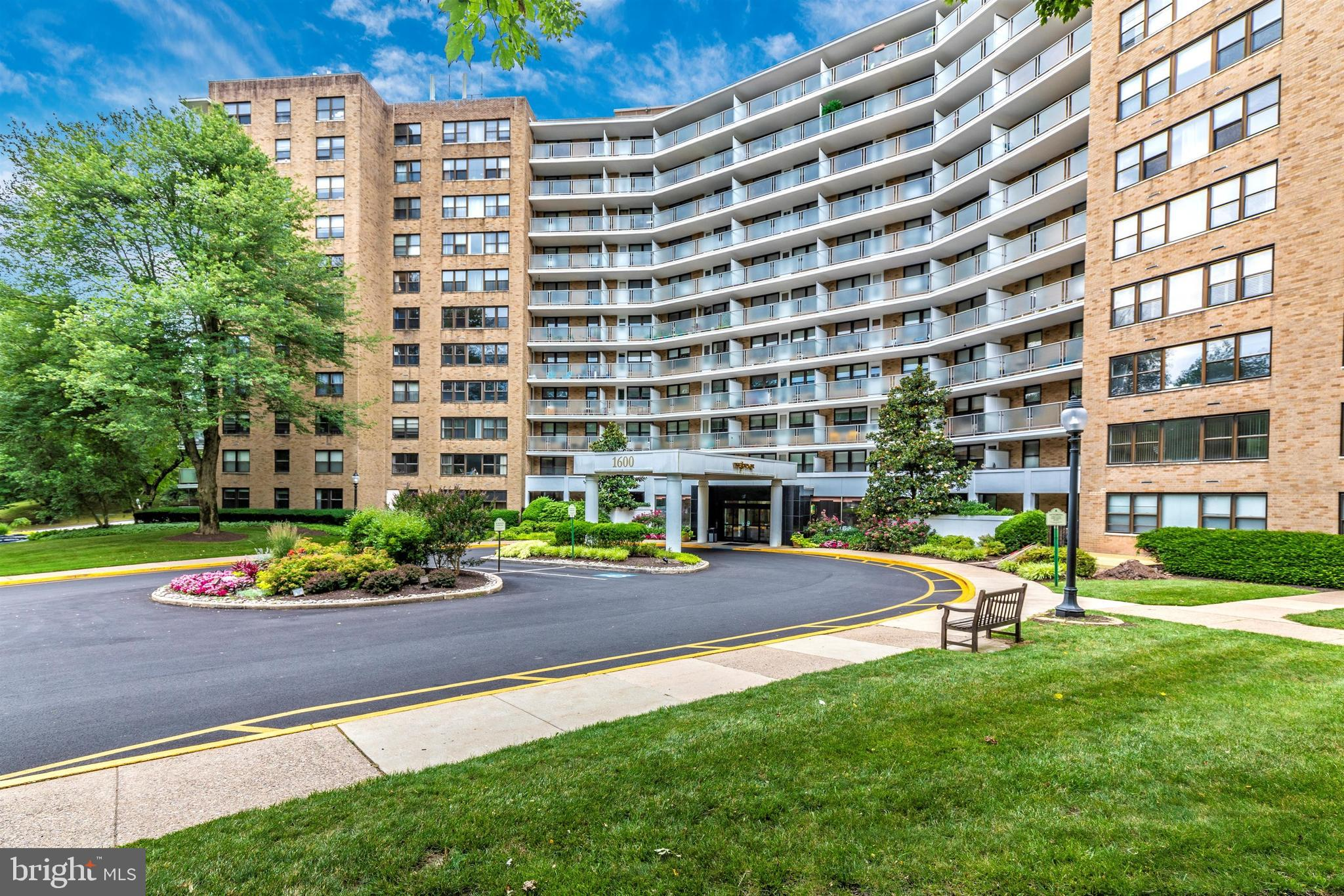 New Listing !  Available immediately!  at The Tower at Oak Hill , high-rise condo community. minutes from center city Phila., Pa.  This home offers Newly  installed wood floors ,  This home features the rarely available  1 bedroom 1 1/2 bath  floorplan! The Kitchen has been updated with a new countertop, hardware, dishwasher and 5 burner stove. Pergo (Nashville Oak) flooring and custom blinds throughout There is a large balcony overlooking the pool. Full sized washer/dryer just installed. Wall of closets in the condo plus basement storage. The building is secured with a 24 hour doorman, Pool, community room and health club included .  Heat, air conditioning , water,  sewer, trash and snow removal, 2 gyms, Pool, and bulk cable is only 91.00 per month!.  Lower Merion Township school bus at door and  #44 bus to center city also at the door.  Available Immediately! Great Home in Great  building on the main line, at a reasonable cost! See it today!