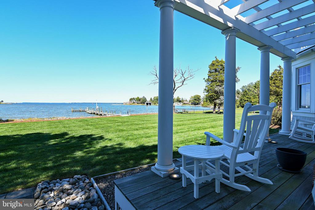 """Welcome to 2419 Canterbury Drive!  This is an elegant, custom-built home  sited on the banks of Jenkins Creek  with broad views of the mighty Choptank River.   This river house is further enhanced  by a  beautiful  salt- water pool conveniently located next to an oversized screened-in porch with high ceilings.  The house features 4 well-proportioned bedrooms and 4 full baths.  The primary suite is on the first floor with spectacular river views.  The Great room has a fireplace, soaring ceilings and tremendous views.  The beautiful Kitchen  has updated appliances, gorgeous new backsplash  and great lighting.  The second floor boasts 2 bedrooms with a shared bath, a work out room, a fabulous upstairs den/study/office with an overlook to the great room and access to a second floor balcony with captivating views.  A separate """"In-Law Suite"""" complete with bath, bedroom, ample closets and a breakfast bar is located at the opposite end of the hall from the other bedrooms for maximum privacy.  Sophistication  abounds throughout as evidenced in the maple floors, upgraded lighting , subtle paint colors, graceful design and easy flow of this specimen house!  Technologically advanced features include geothermal heating, 2 rinnai hot water on demand systems,  fabulous in-ground irrigation system and a sound system wired throughout the house.  This is a spectacular property and value."""