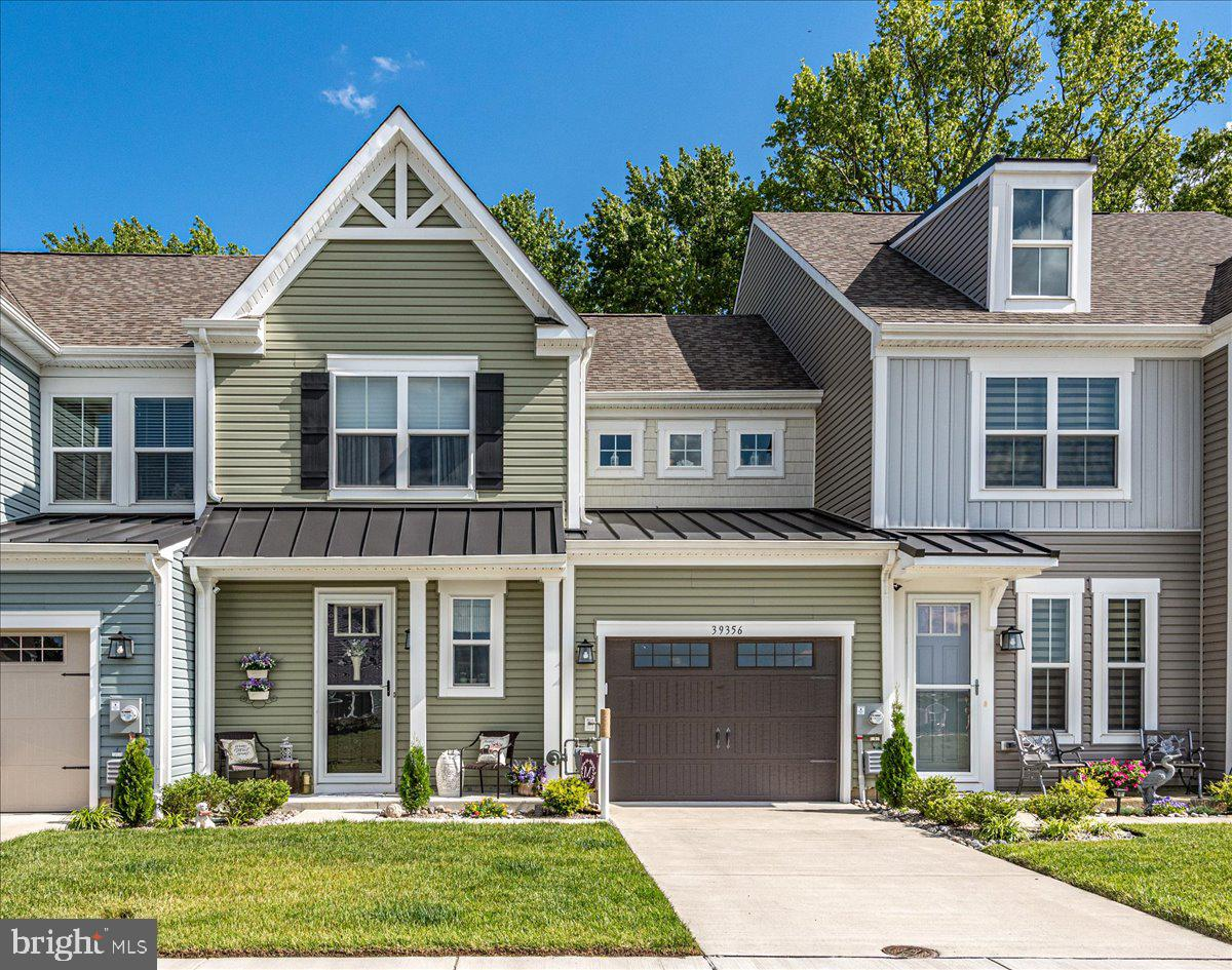 Enjoy the comfort and convenience of townhome living near Bethany Beach in this beautiful like-new Canby II model with the morning room addition. This immaculately-cared for home is situated on one of the best lots in the community which backs to trees in the rear yard and offers a pond view in the front yard. The owners have added a paver patio to enjoy the outdoor space.  This home was built in 2020 and is in excellent move-in ready condition. Let the cozy front porch welcome you as you enter the home and enjoy the first floor open floor plan which features a kitchen with granite countertops, bar seating, stainless steel appliances, gas cooking, and pendant lights. Enjoy entertaining with center island and breakfast bar counters as well as a separate dining area. The first floor master bedroom offers a large walk-in closet and master bathroom with dual vanity sinks and large walk-in shower with ceramic tile. Your guests will enjoy the privacy and space of the second floor which features two bedrooms, a loft area, and a full bathroom with tub and shower.   This home is ready for you and your guests to start enjoying the coastal lifestyle and all of the amenities that Bishops Landing has to offer! The attached one-car garage provides storage for your vehicle, your sports equipment, or your beach toys! Bishops Landing is a resort style community with a clubhouse, pools, fitness center, tennis courts, dog play area, community fishing ponds, and a in season shuttle to the beach.