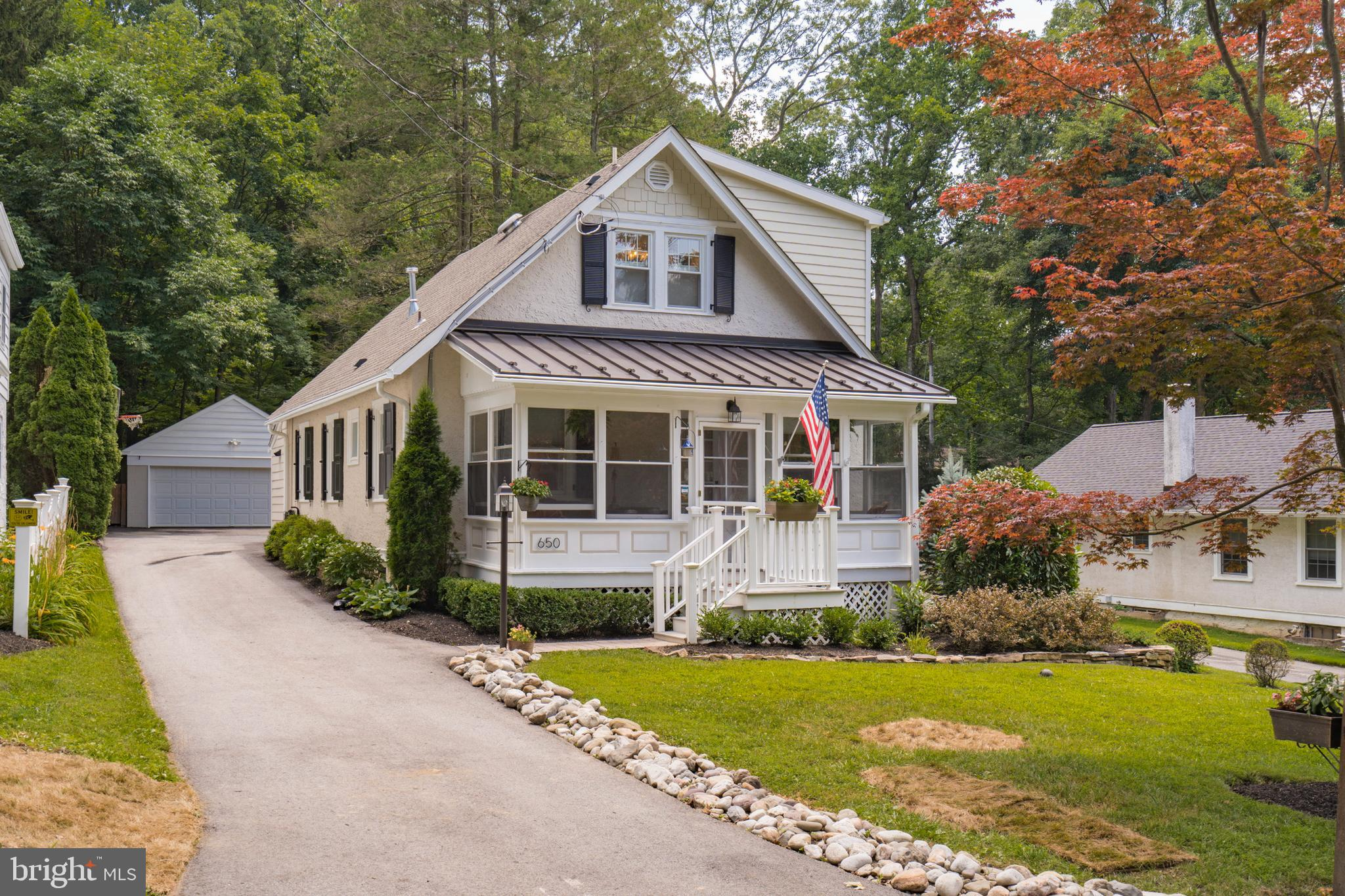 """The highlight of this craftsman style home is the 5 year old, $120K, renovation/addition to the second floor, master bedroom, 35' x 17' including a 12 x 12' custom Closet by Design closet worth over $10K.  Master bath with heated marble floors  extends the full width of the house complete with a water closet, large 4 x 7 shower stall, all custom solid wood cabinetry with marble countertops, marble floor, and full marble shower complete with two showerheads.  All plumbing fixtures, including sinks, $10K , were purchased at Ferguson and come with a lifetime warranty. A brand new HVAC system was installed in this area as well on its own thermostat.  All of the old cast-iron plumbing was removed and replaced during this renovation. Updated Kitchen with solid hardwood cabinetry and full wood boxes.  Heated floors. Granite countertops with large breakfast bar, large pantry cabinet, and coat closet. Two year old dishwasher. Kitchen and Dining room with custom woodwork including beadboard and period correct 1 1/2"""" maple top rail.  The open floor plan with custom mill work living room/dining room combo is 35 foot long complete with custom radiator covers, Roman shades and window treatments. Pretty front porch with full windows and screens to relax in the morning or in the evening.  Deck to the porch is made with maintenance-free Trex and vinyl rails. Two bedrooms on main floor, one currently being used as a home office. The first floor full bathroom has all marble shower, floor, countertops, and Wainscoting. All custom moldings and custom solid wood cabinetry.  The shower is complete with custom shower doors, barrel ceiling and a window. Step down to your basement retreat complete with large, full egress windows and a Bilco door and 4 massive double closets.  Family room, bedroom, and bathroom including a shower stall doubles as the laundry room. A separate storage furnace area is also on this level with Bilco doors leading to the outside.  Basement renovation included water"""
