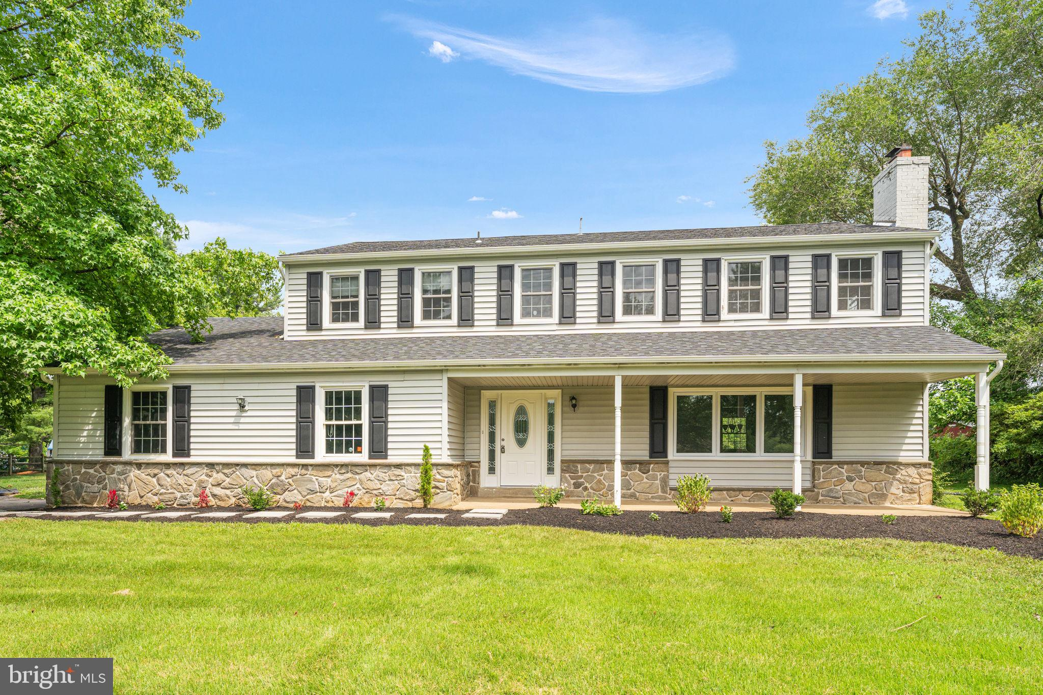 AVAILABLE IMMEDIATELY! Welcome to 7 Line Rd in prestigious Willistown Township, in the award-winning Great Valley School District and only minutes from Malvern Borough shops, restaurants and of course the R5 line at Malvern Train Station. Follow the stepping stone walkway to the front porch which is ready for a few patio chairs to enjoy morning coffee. Step into the entrance hall with living room on the right, hardwood floors, ceiling fan and wood-burning fireplace. Follow to the spacious dining room with hardwood floors and into the updated eat-in kitchen with tile floor, granite countertops, and gas cooking. Continue to the step-down updated powder room, laundry room with man door to the rear patio and the tile-floor family room with sliding glass doors to the patio and LARGE level lot ready for soccer playing! The 2nd floor has the primary bedroom with hardwood floors and ceiling fan as well as the updated, light, bright en suite bathroom with high vanity and an oversized step in tile shower. There are 2 more generously sized bedrooms each with hardwood floors and ceiling fans. These 2 bedrooms are served by the updated hall bathroom. The lower level is finished & wide open, perfect for that much needed TV/recreation room space.