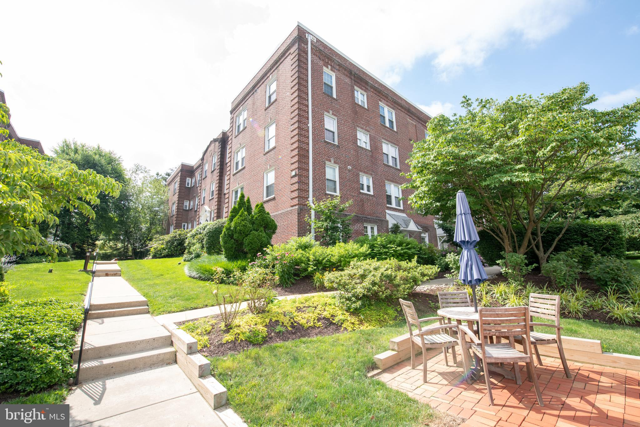 Welcome home to the Hampshire at Havertown!  This highly sought after 2 bedroom, 2 bath condo in Bldg A is located in the heart of the main line.  Lower Merion School District. This development has so much to offer !  Enjoy taking a stroll around to enjoy the well manicured grounds.  Summertime enjoyment includes the use of the pool, patio and grilling areas.  As you enter Building A 's elegant vestibule you will immediately feel at home!  You can take the elevator or steps to your fabulous condo.   On the way down the hall you will notice a lovely common deck area.   This condo offers low maintenance living at it's finest!  Enjoy a cozy evening by the wood burning fireplace.  The living/dining room open concept is large enough to host holiday dinners.  Preparing meals will be a breeze in the step saver kitchen.  The primary bedroom has incredible closet space and an  en-suite bathroom.  There's also a second bedroom that the current owner uses as a home office (built-in's are included with your purchase).  Large utility closet with stackable washer/dryer, Heater was replaced 2020, A/C replaced 2019.  Windows replaced with double hung, high efficiency vinyl windows approximately 5 years ago.      Pets are permitted with restrictions.  The location is amazing! A few minutes away from Suburban Square with great shops, restaurants, fitness center, micro brewery, Ardmore Farmer's Market and Trader Joes.  Public transportation, buses, Ardmore train station, Route 476 and so much more!